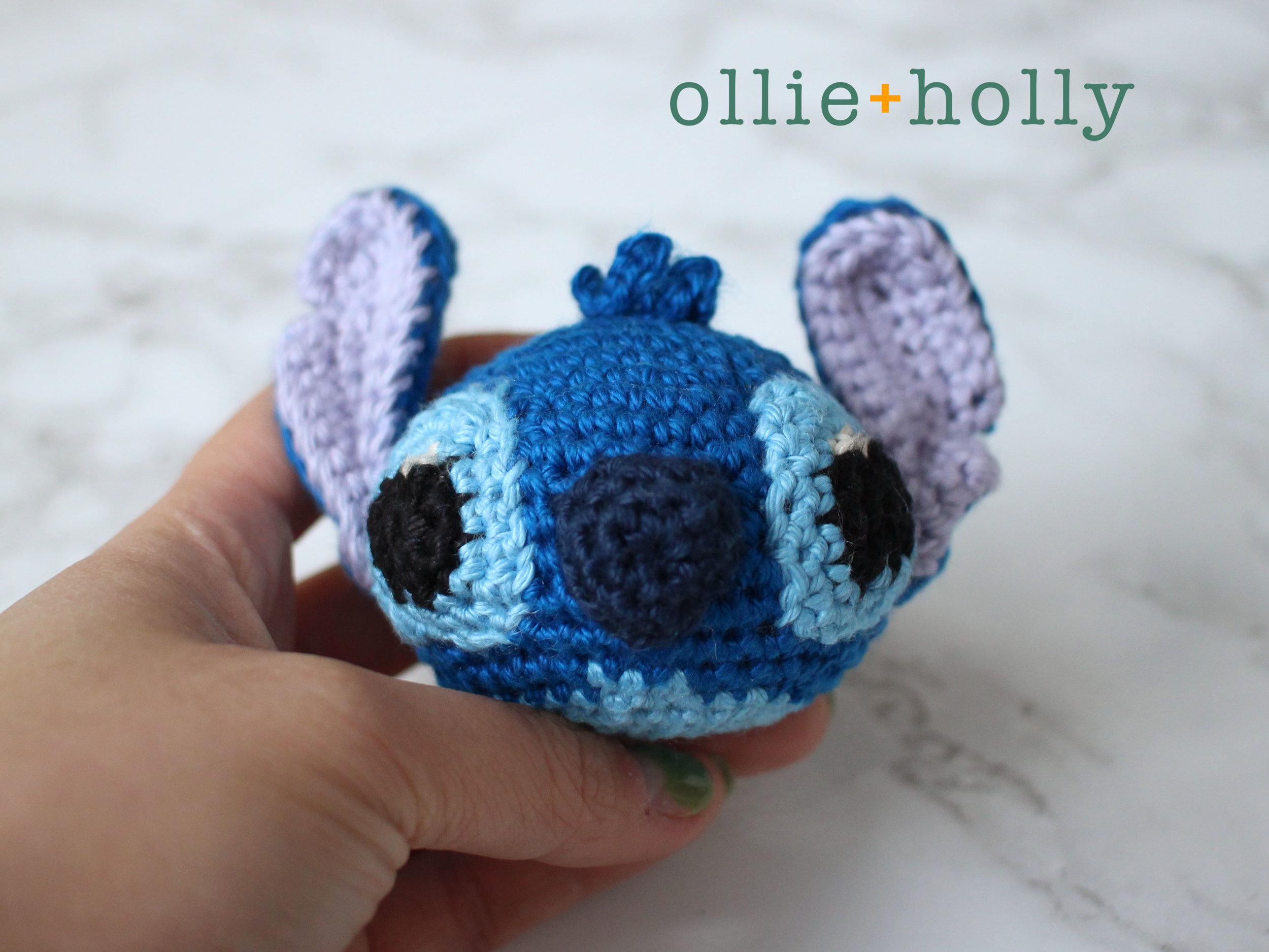 Free Lilo and Stitch Amigurumi Crochet Keychain Pattern Step 11