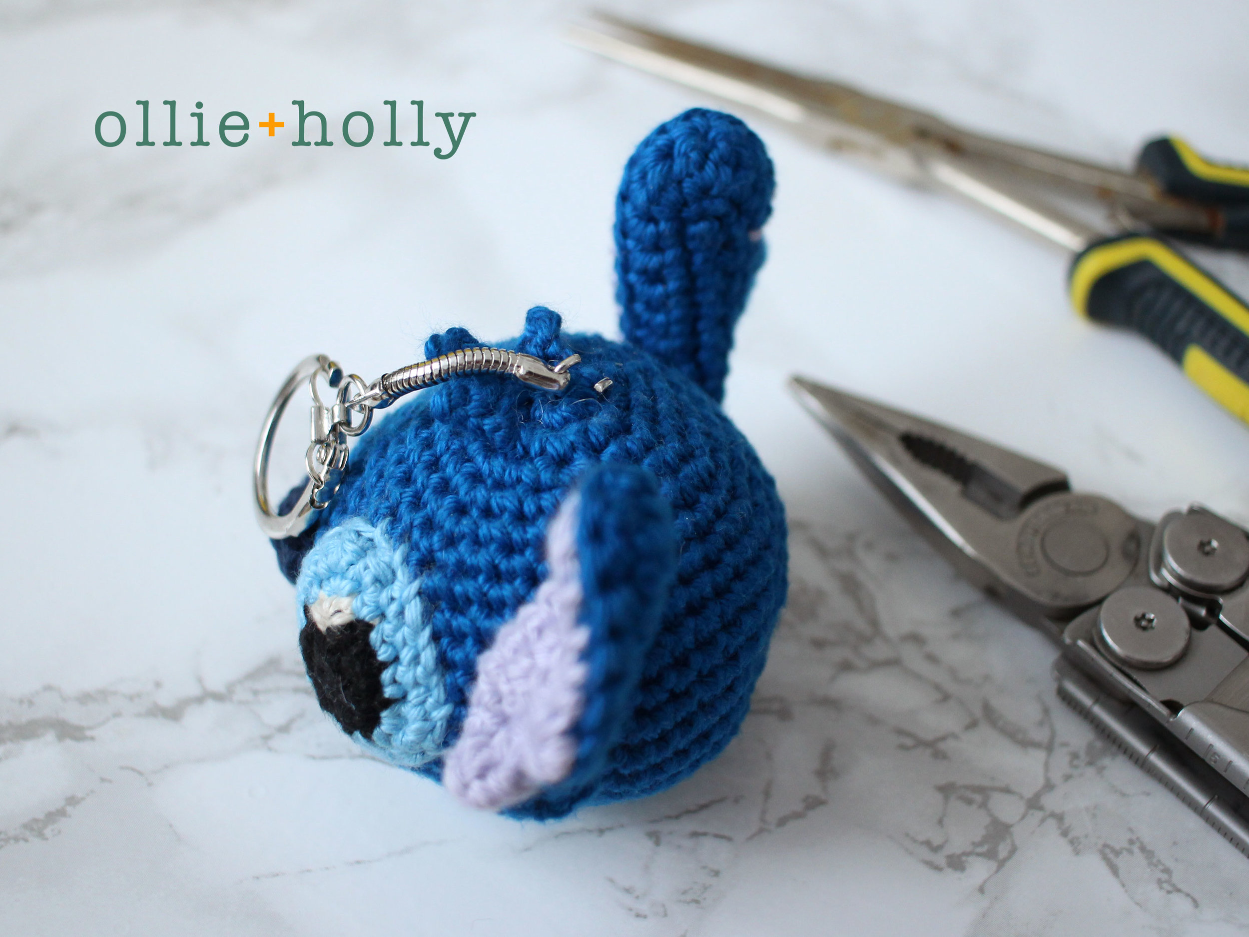 Free Lilo and Stitch Amigurumi Crochet Keychain Pattern Step 12