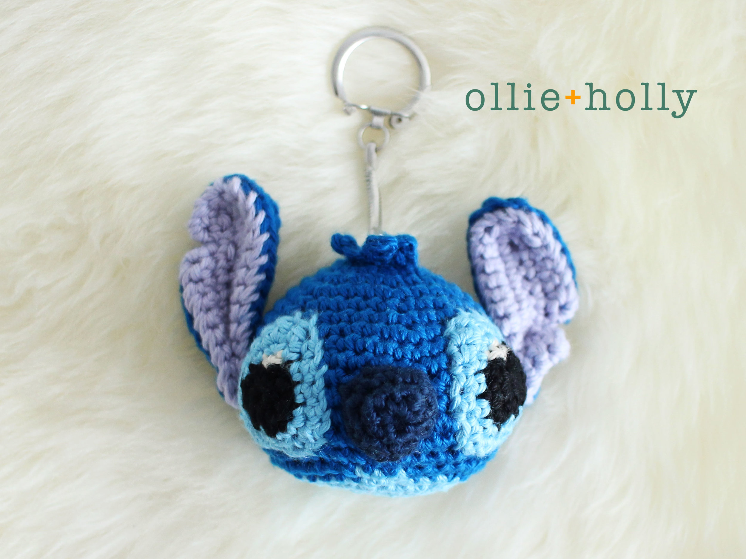 Free Lilo and Stitch Amigurumi Crochet Keychain Pattern Finished