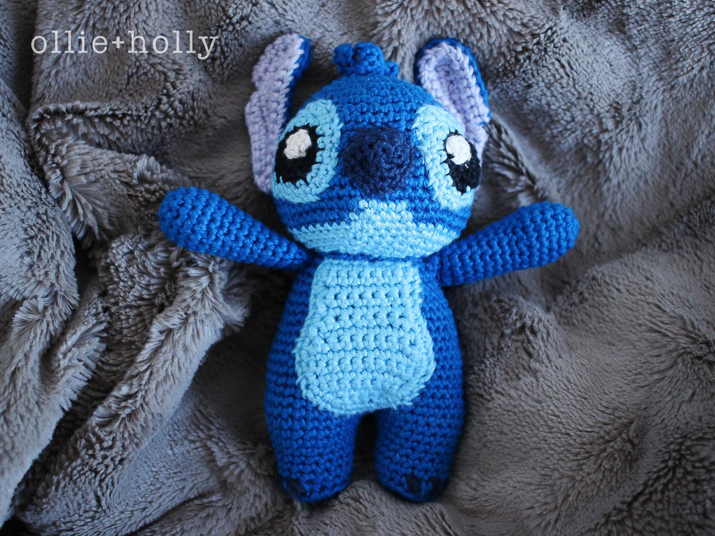 Lilo and Stitch Amigurumi Crochet Pattern Grey Background