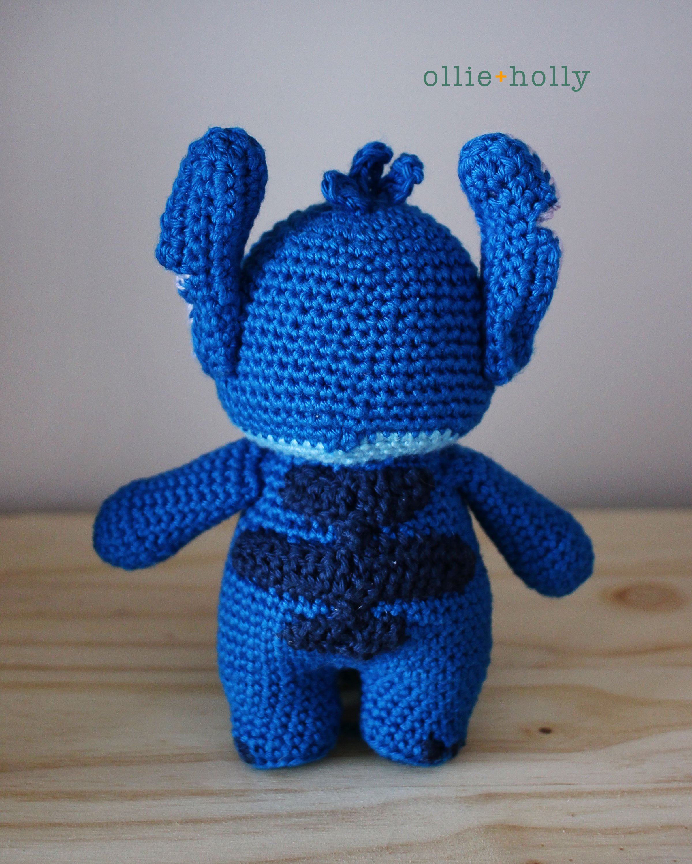 Lilo and Stitch Amigurumi Crochet Pattern Back View