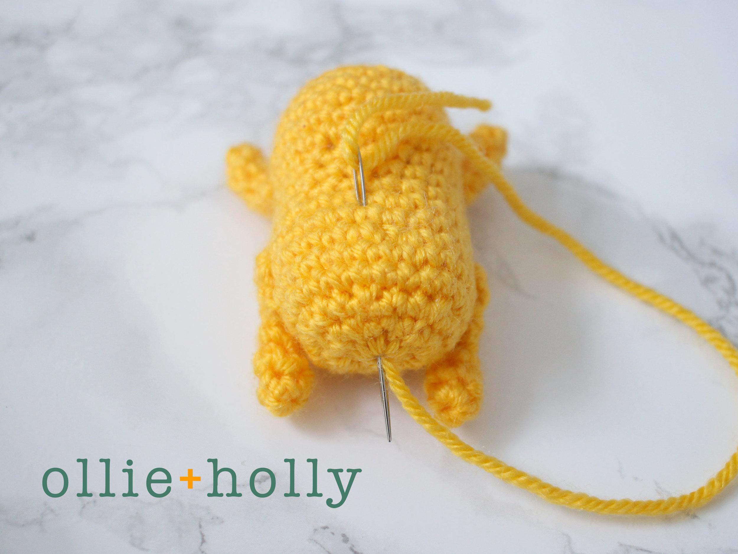 Free Gudetama Amigurumi Crochet Pattern Step 7
