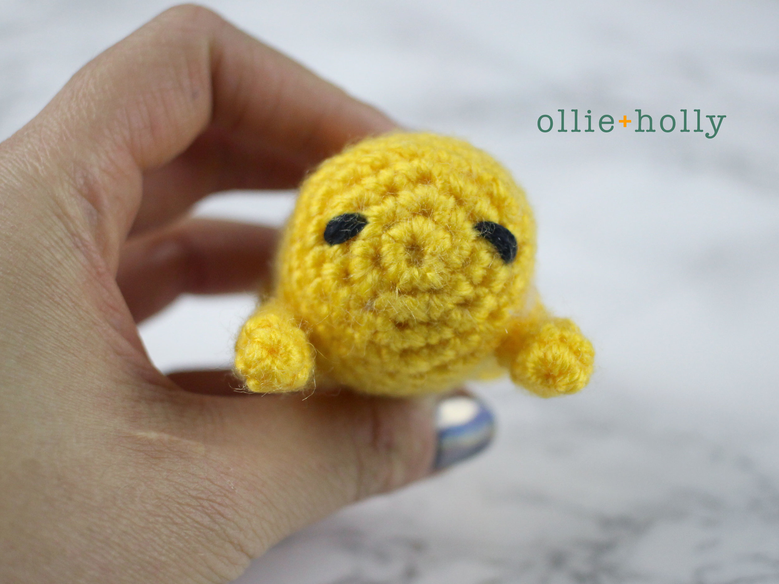 Free Gudetama Amigurumi Crochet Pattern Step 9