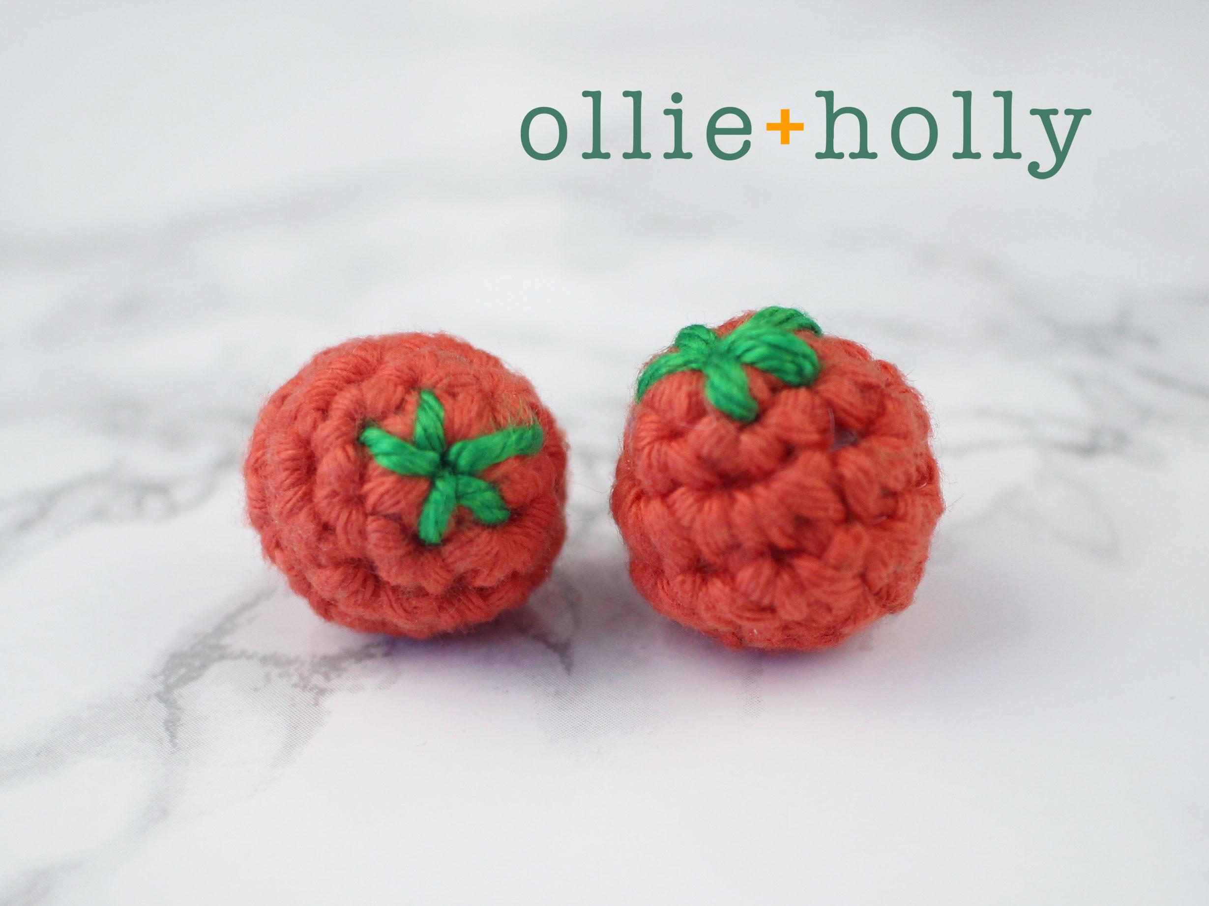 Free Cherry Tomato Amigurumi Crochet Pattern