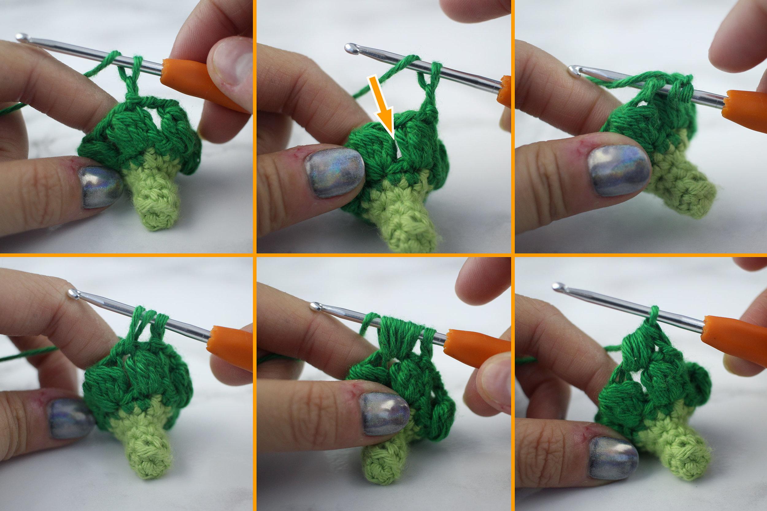 Free Broccoli Amigurumi Crochet Pattern Step 5
