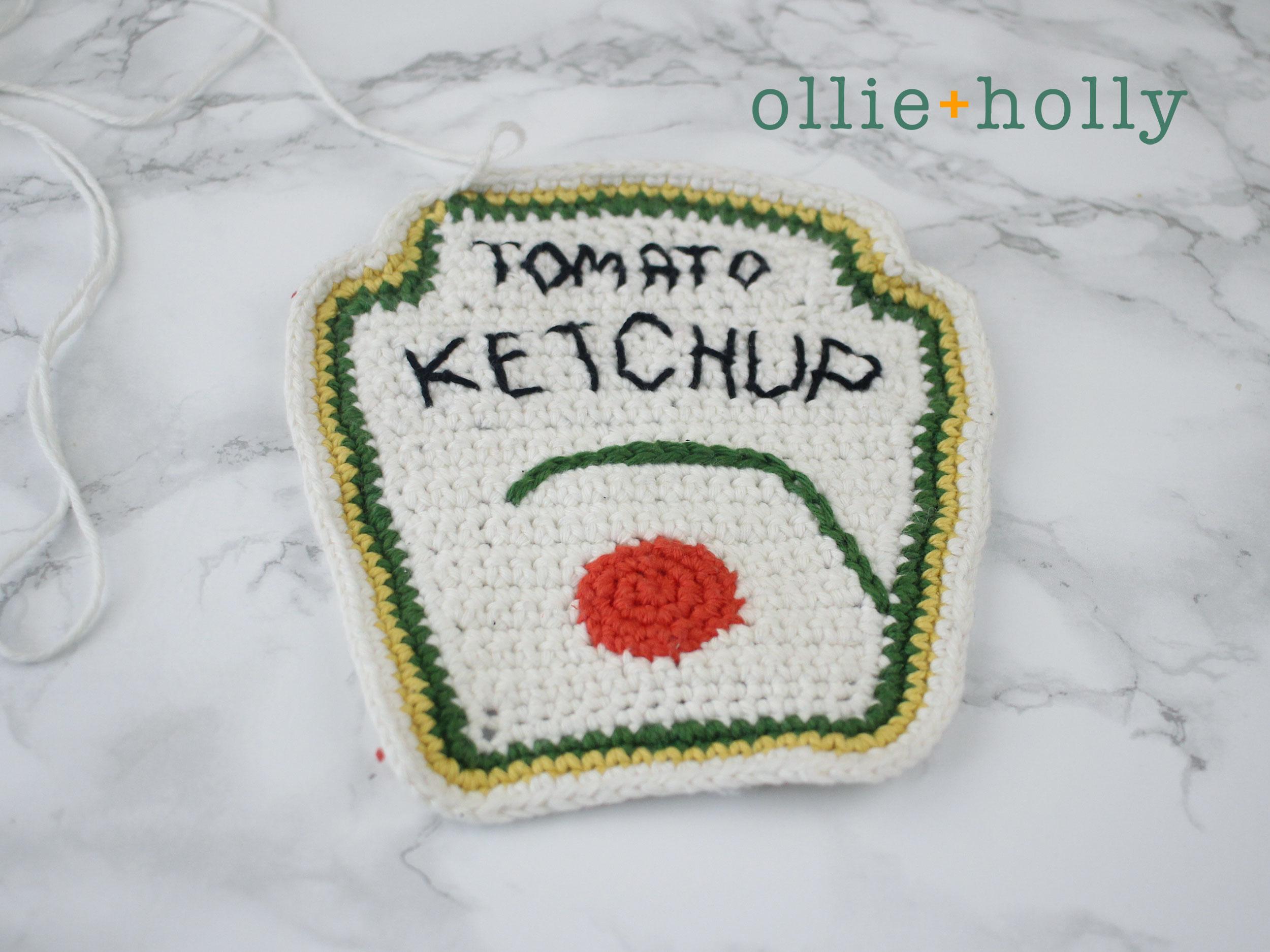 Free Ketchup Amigurumi Crochet Pattern Step 15