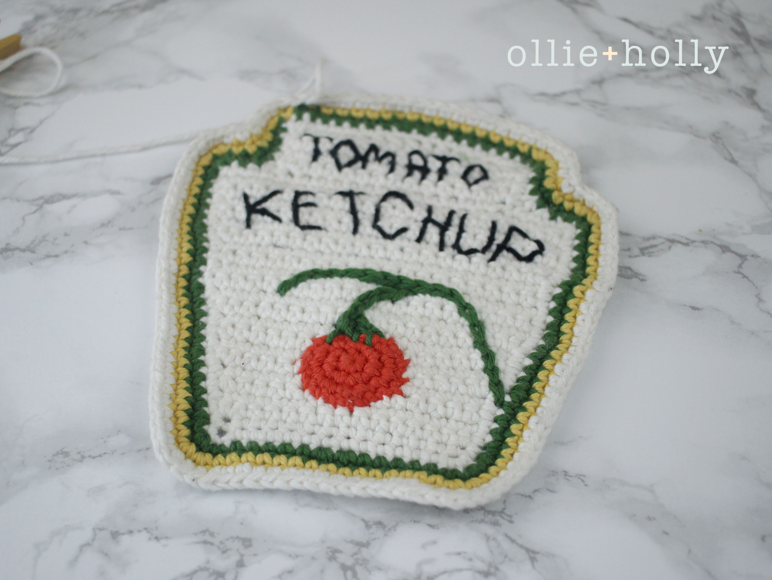Free Ketchup Amigurumi Crochet Pattern Step 16