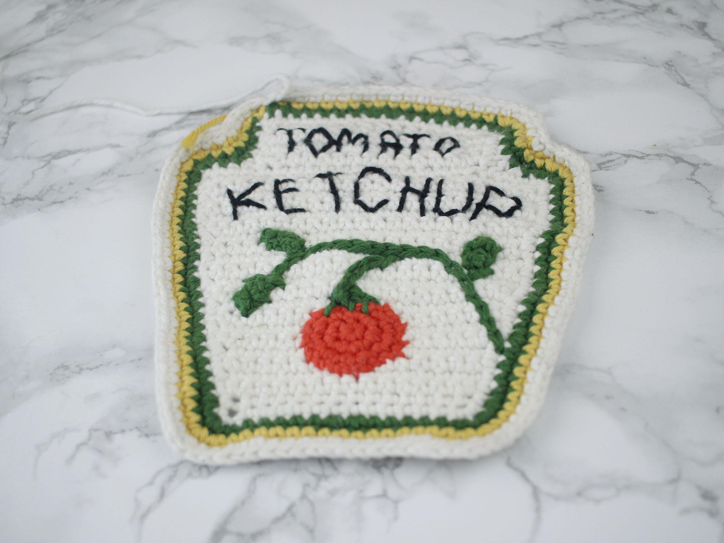 Free Ketchup Amigurumi Crochet Pattern Step 17