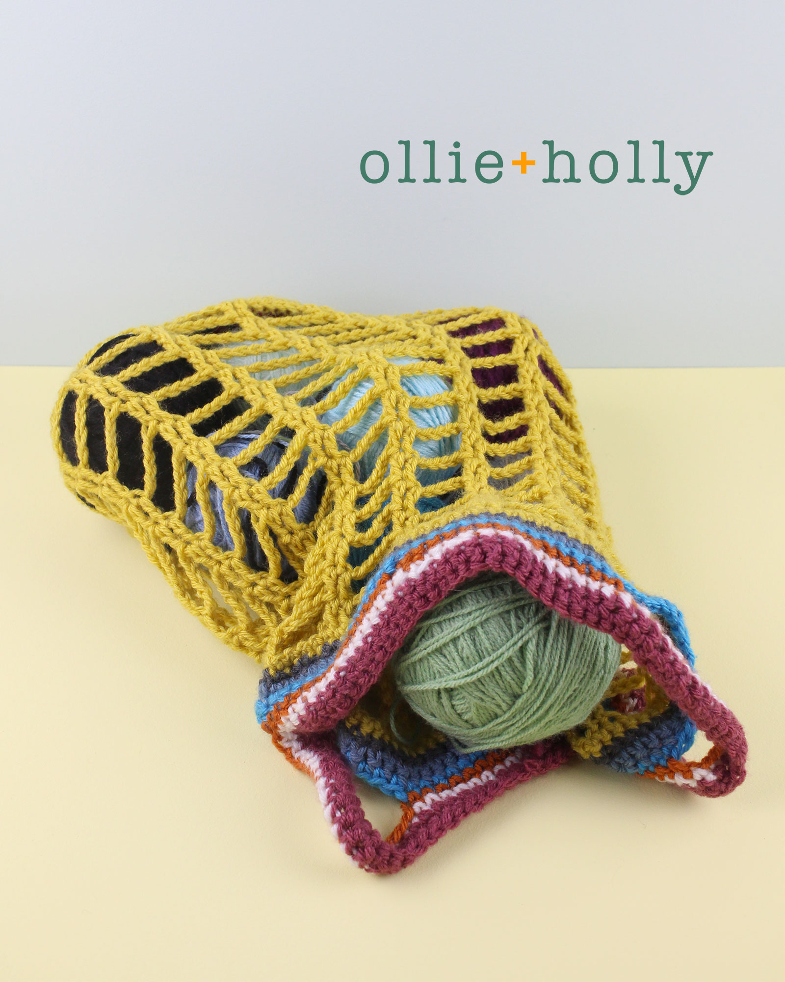 Crochet Market Yarn Bag