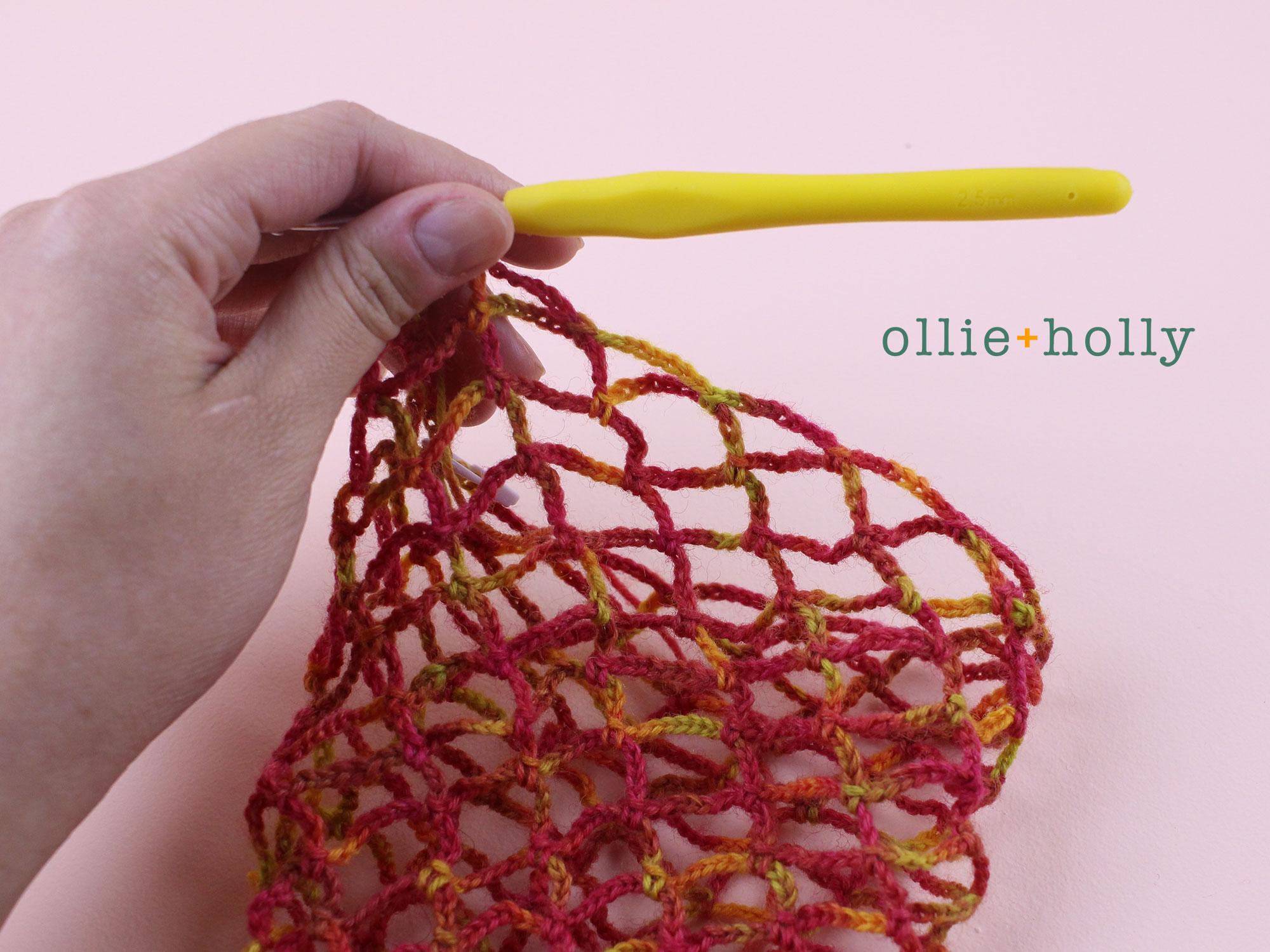 Free Crochet Produce Bag Pattern Step 7