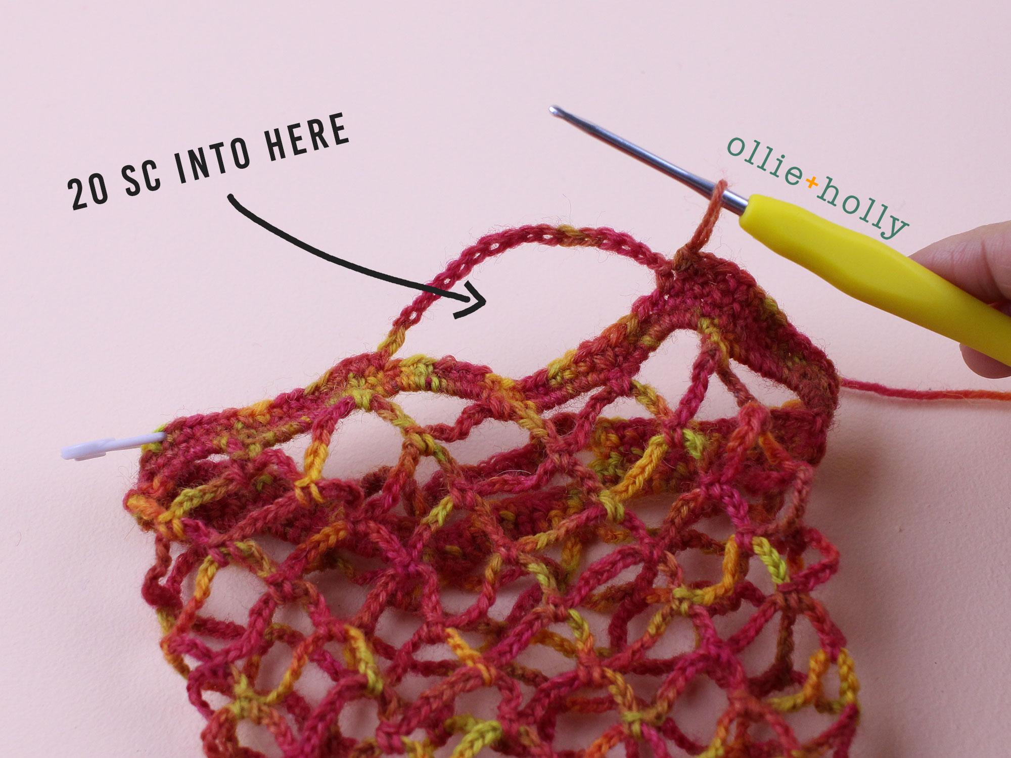 Free Crochet Produce Bag Pattern Step 11