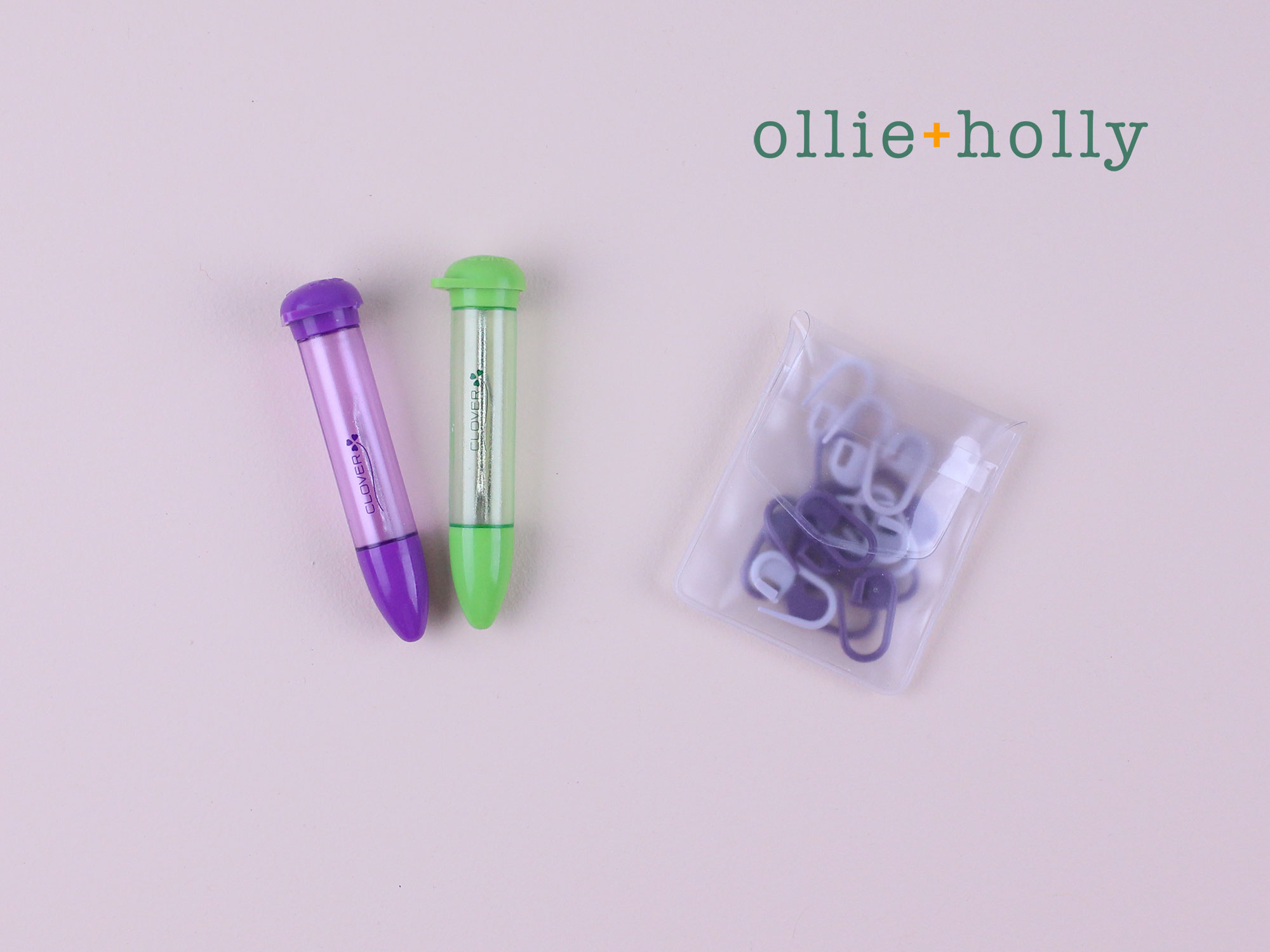 Ollie Holly Darning Needles and Stitch Markers