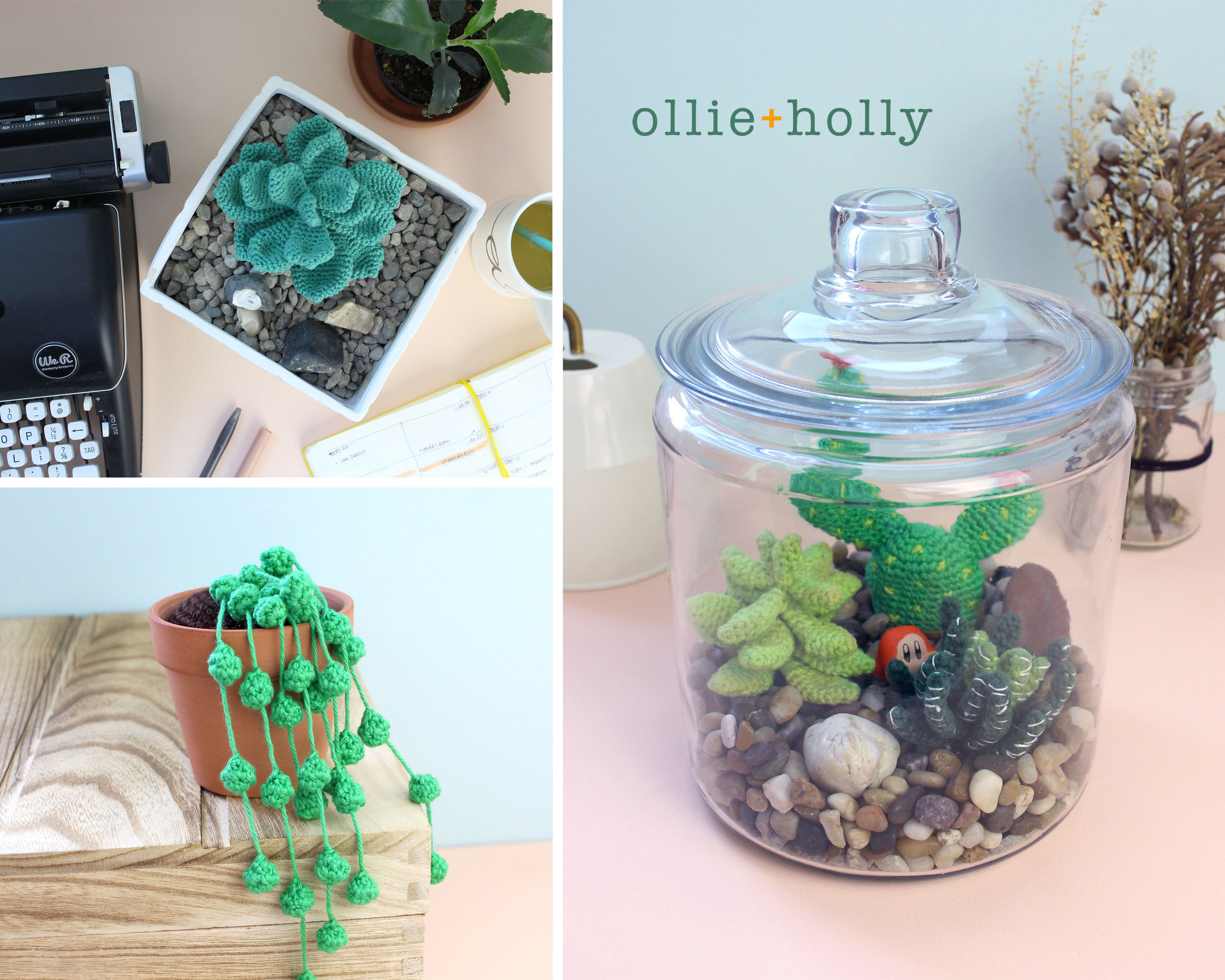 Crocheted Succulents and Terrarium Patterns Collection