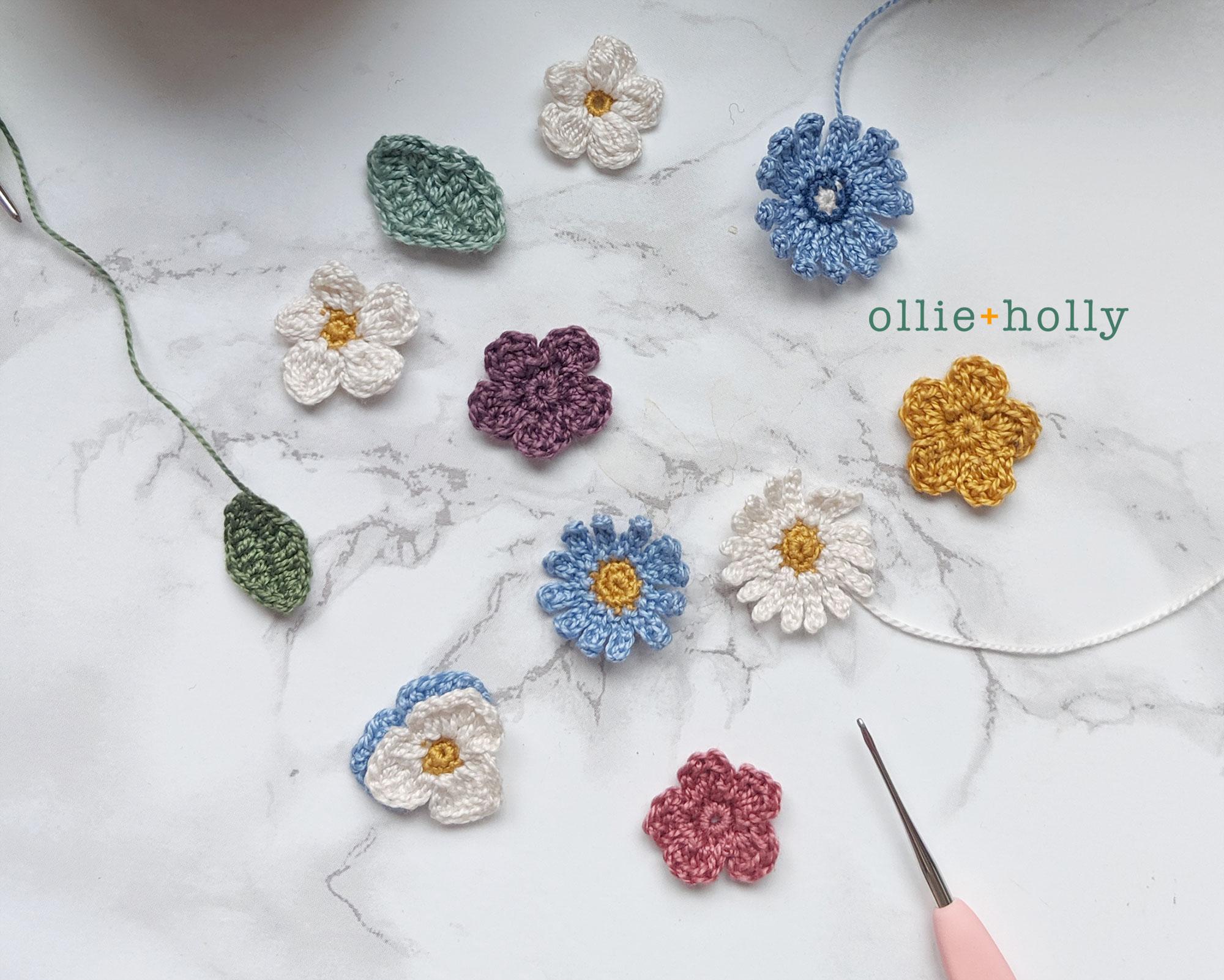 Ontario wildflowers crochet appliques