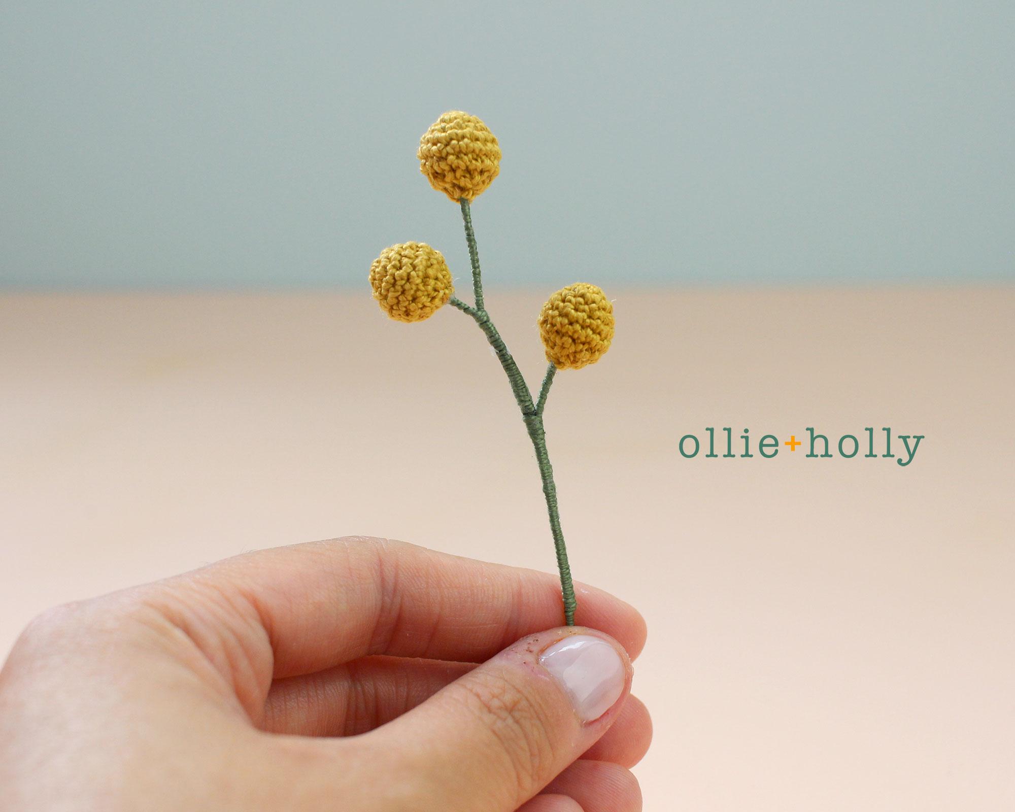 Crochet Billy Ball Flowers Pattern