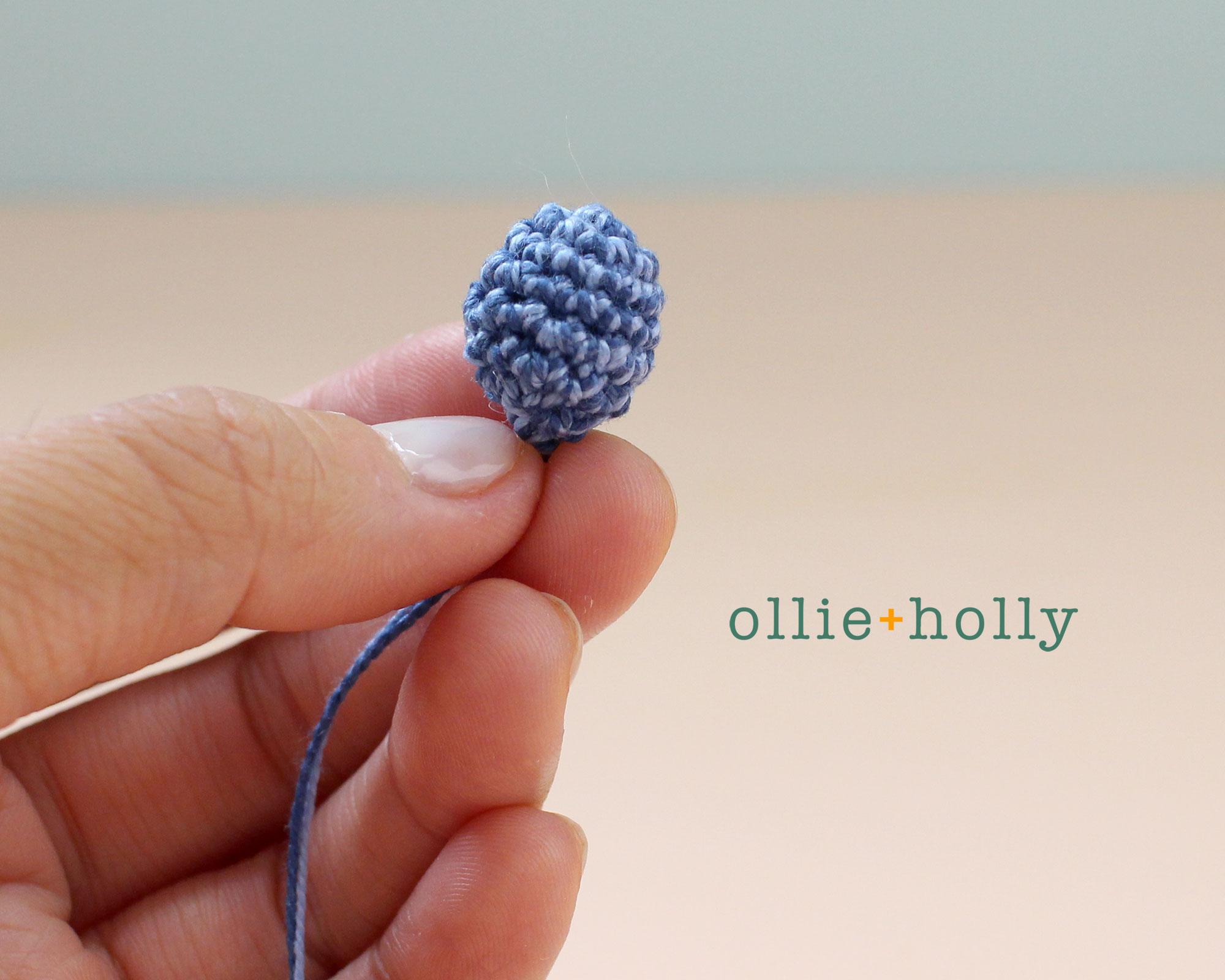 Free Blue Thistle Flowers Crochet Pattern Step 2