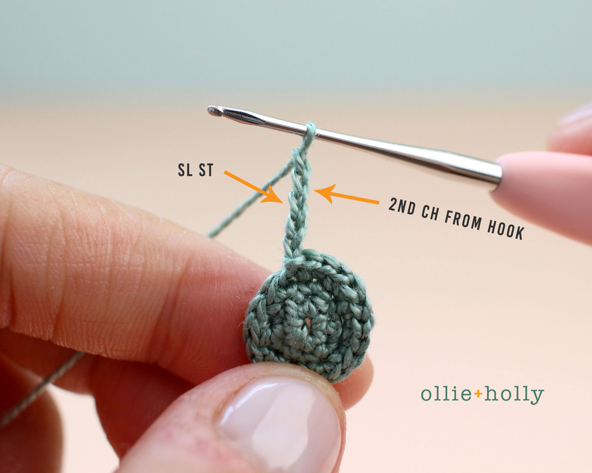 Free Blue Thistle Flowers Crochet Pattern Step 6