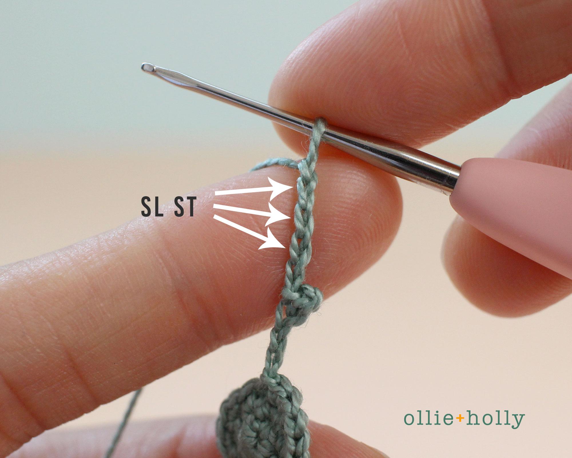 Free Blue Thistle Flowers Crochet Pattern Step 8
