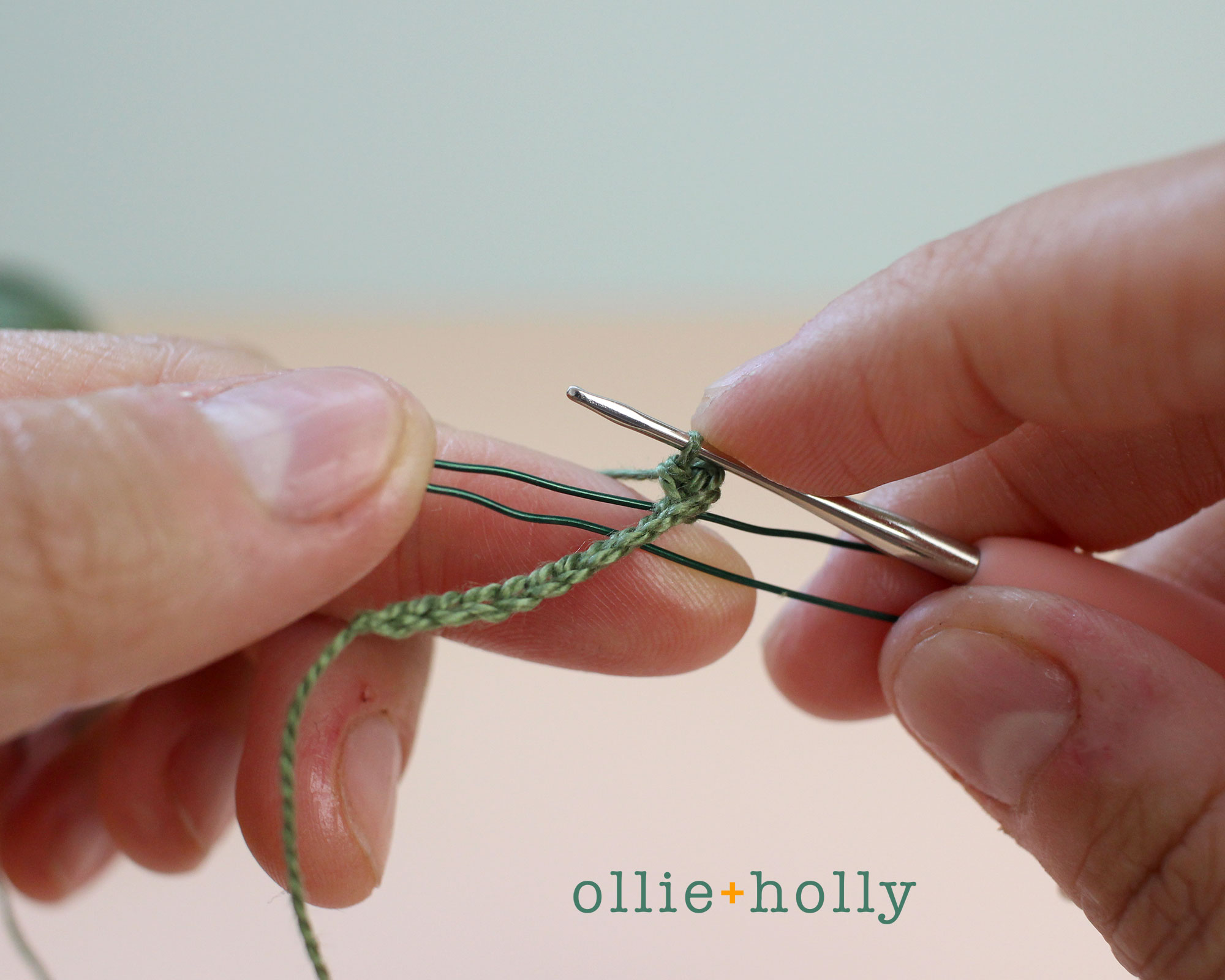 Free Blue Thistle Flowers Crochet Pattern Step 13