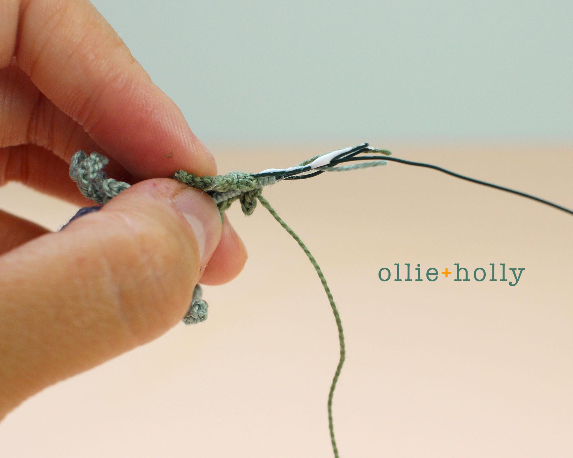 Free Blue Thistle Flowers Crochet Pattern Step 21