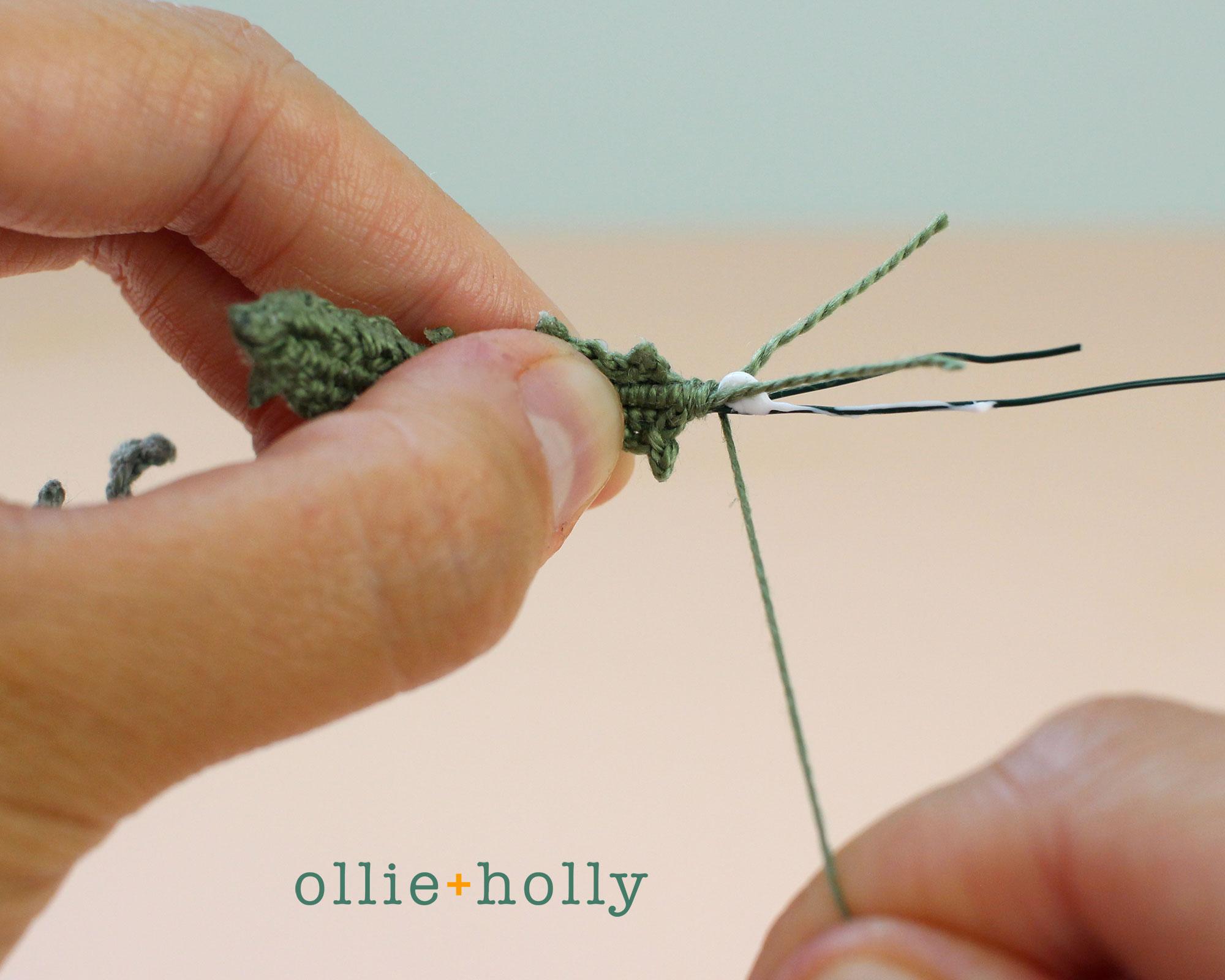 Free Blue Thistle Flowers Crochet Pattern Step 23