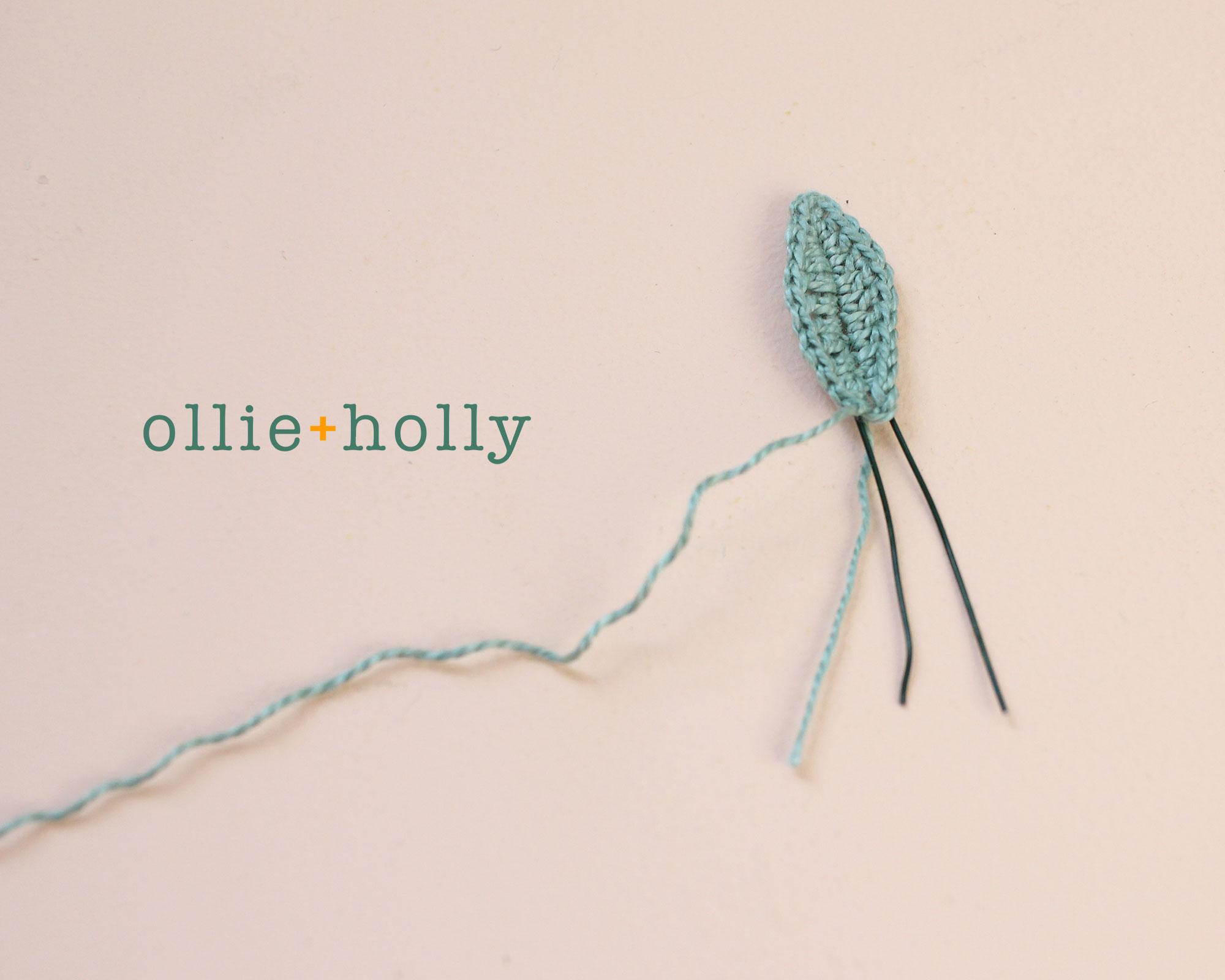 Free Eucalyptus Leaf Crochet Pattern Step 5