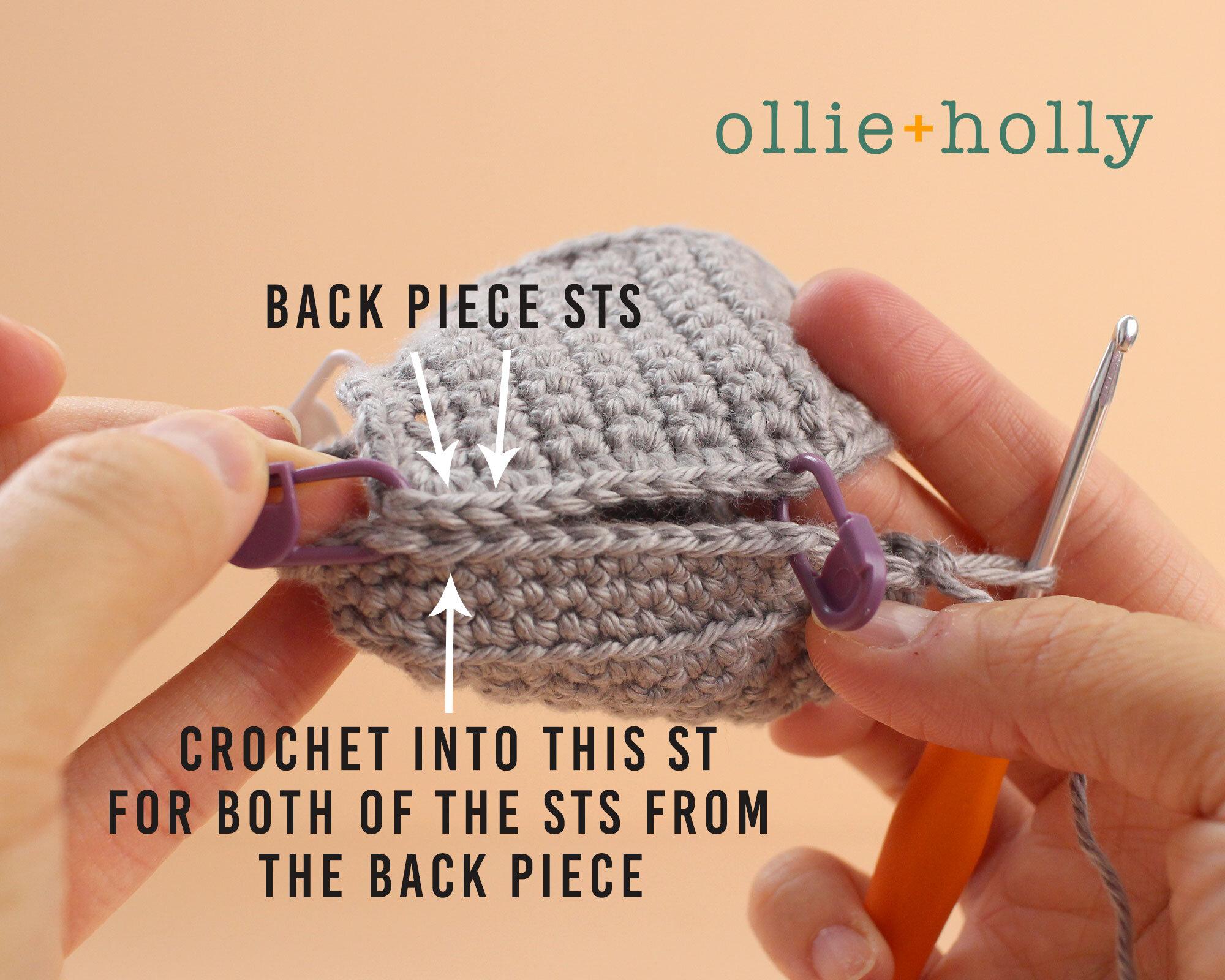 Free Halloween Tombstone Ornament Amigurumi Crochet Pattern Step 4