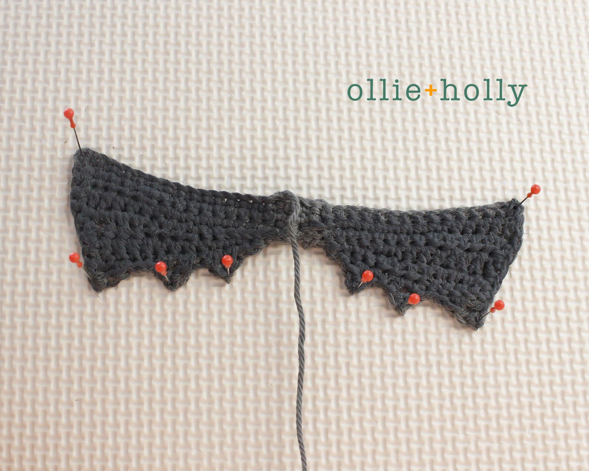 Free Bat Wings Halloween Ornament Amigurumi Crochet Pattern Step 11