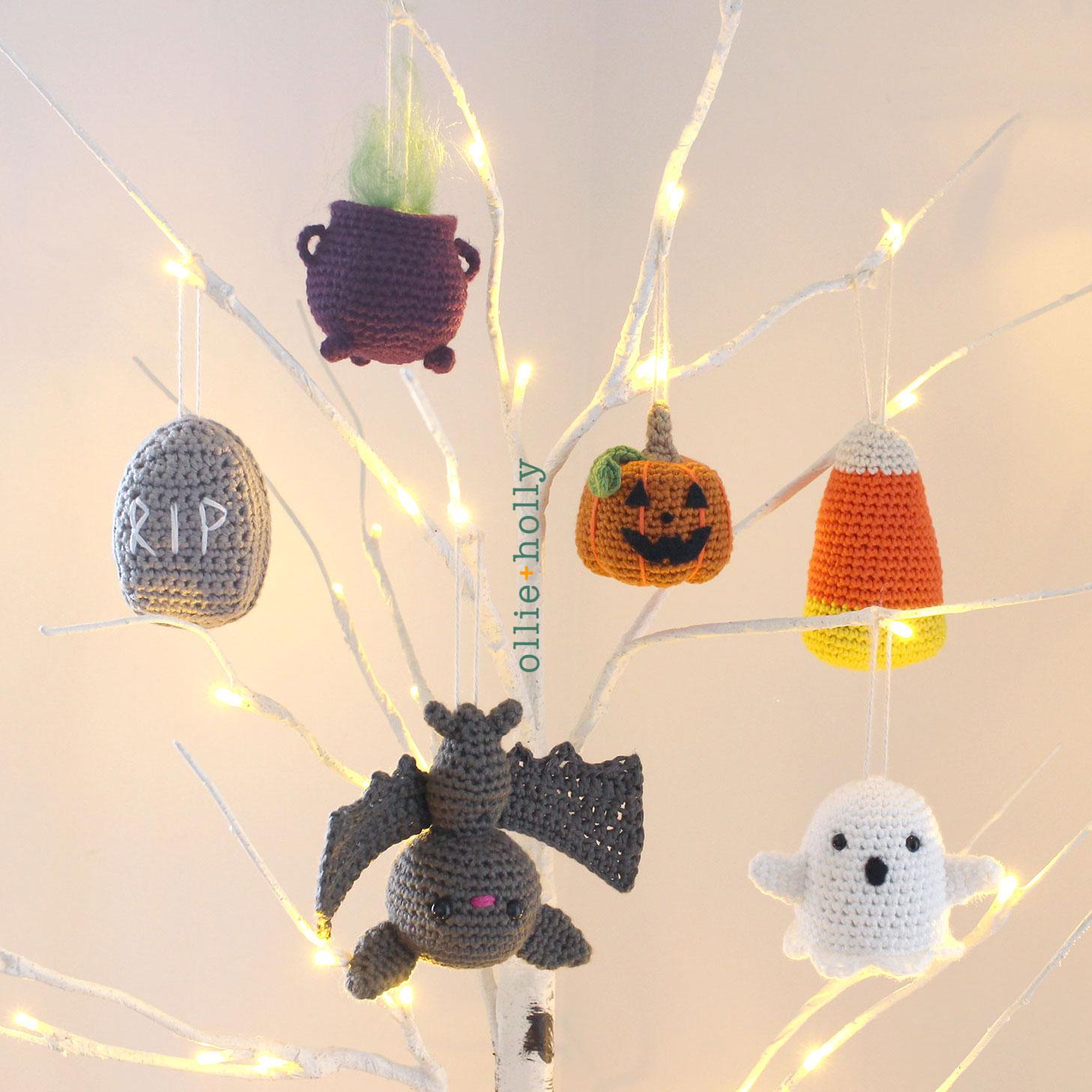 Free Halloween Tree DIY Ornaments Amigurumi Crochet Collection