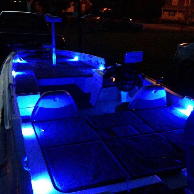 Loving the blue LED lighting on the #pineforgeknivesusa boat. #customknives #forgedknives