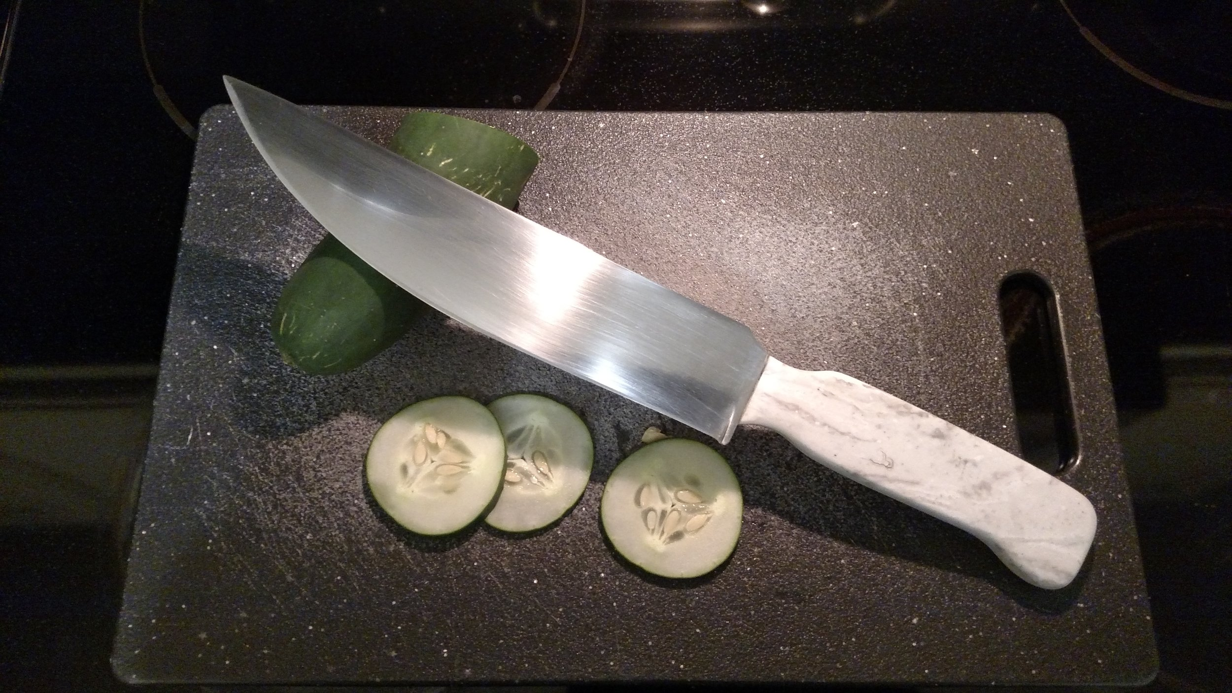 Kitchen Knife with Corian Handle