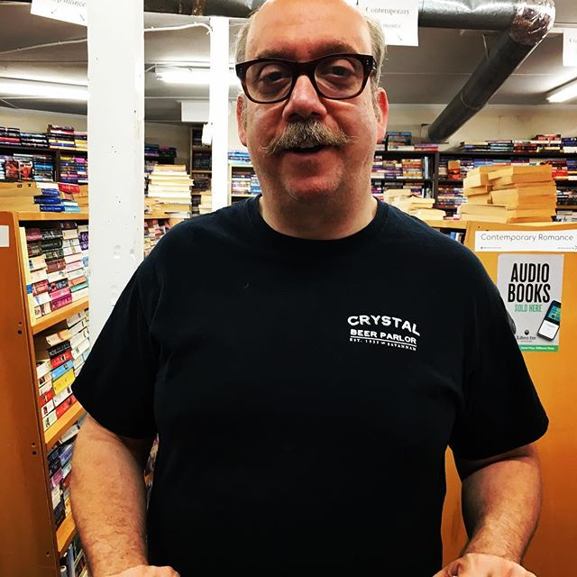 Sometimes you are just enjoying another day at #thebookhouse when someone comes in and you think-so I know them from the store? Church? The neighborhood? Oh no, it's movie star #paulgiamatti and he says he's here because he heard you were a great store. So that happened. #celebsinbookstores #indiebound #bookstagram #mableton