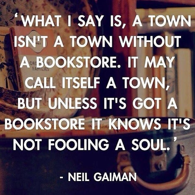 As #Mableton seeks its 21st century identity, we are thrilled to be here, helping Mableton be a town! #neilgaimanquote #neilgaiman #southcobb #indiebookstore