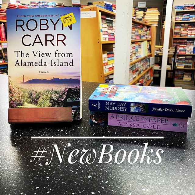 Such a great day in #romancelandia! @robyncarrwriter released #theviewfromalamedaisland and @alyssacolelit published the third book in the #reluctantroyals series, #aprinceonpaper. We have the whole series in stock, and you should fly over to pick it up! On the #cozymystery front we have @jenniferdavidhesse's delightful #MayDayMystery.  We also restocked a lot of new favorites, like #Becoming. See you soon. #indiesloveromance #bookstagram