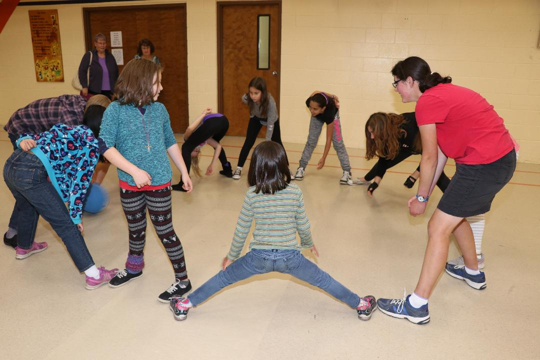 Getting silly with gym time, with lots of fun games and activities!