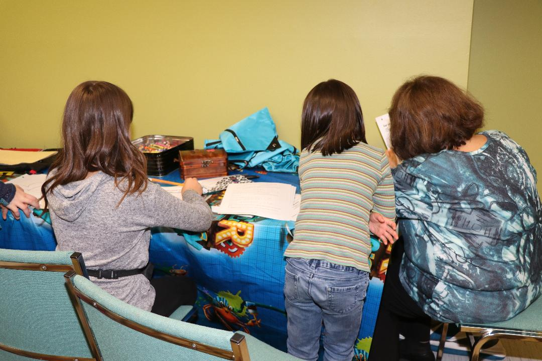 Small group study with Bible lessons and crafts.