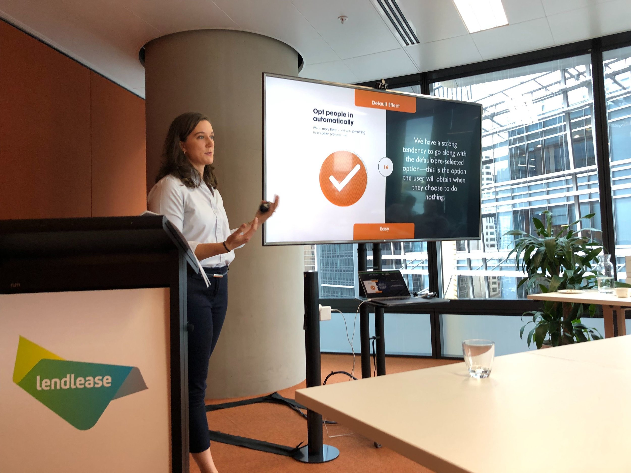 Annaliese running our workshop at Lendlease in Sydney