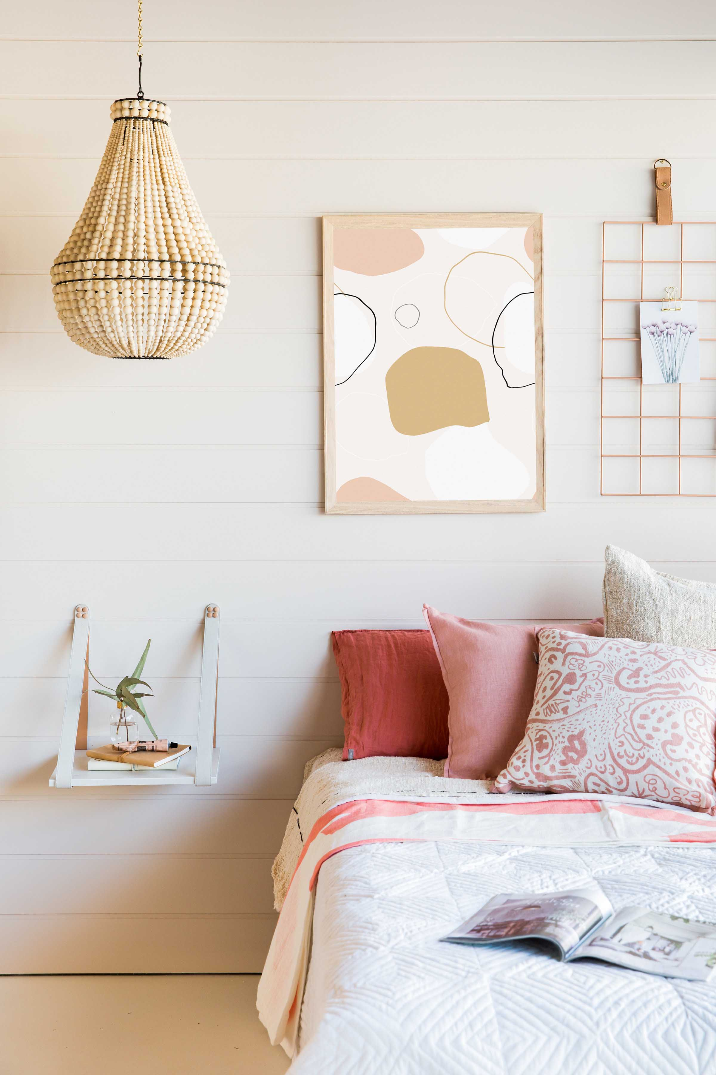 SUNDANCE - One of the prints available on the H & G Designs website.  Sundance is created by Sunshine Coast's Cass Deller, and is the perfect mix of muted tones and lines.