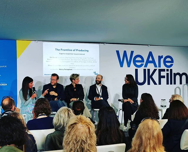 Next up The Frontline of Producing with global producing talent galore. Some great insights so far. #weareukfilm #cannes2019 #zannacreative #ukfilm #cannesfilmfestival @one_two_films @see_saw_films @snowglobefilm @sol.bondy @simon.gills @deadline @nancytartaglionee @hakawati_official