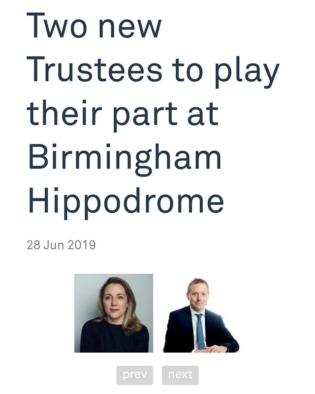 Our director is very proud to join one of the UK's most successful threatres as Trustee. Suzie is looking forward to working with the Birmingham Hippodrome team on its next exciting phase. #uktheatre #ukculture #ukdance #zannacreative