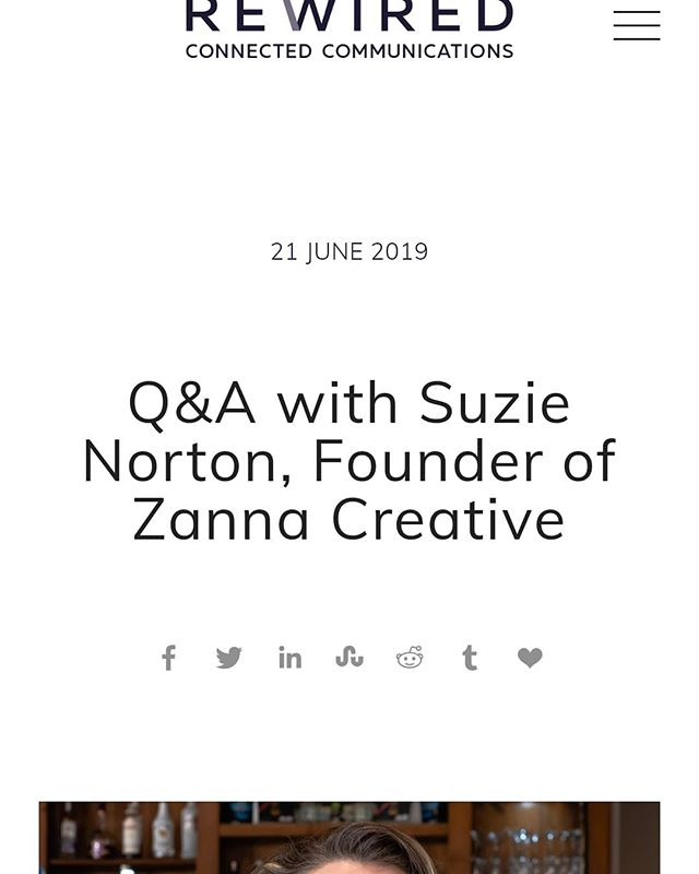 Thanks @rewiredpr for the Q&A with our Director. Link to article in bio.
