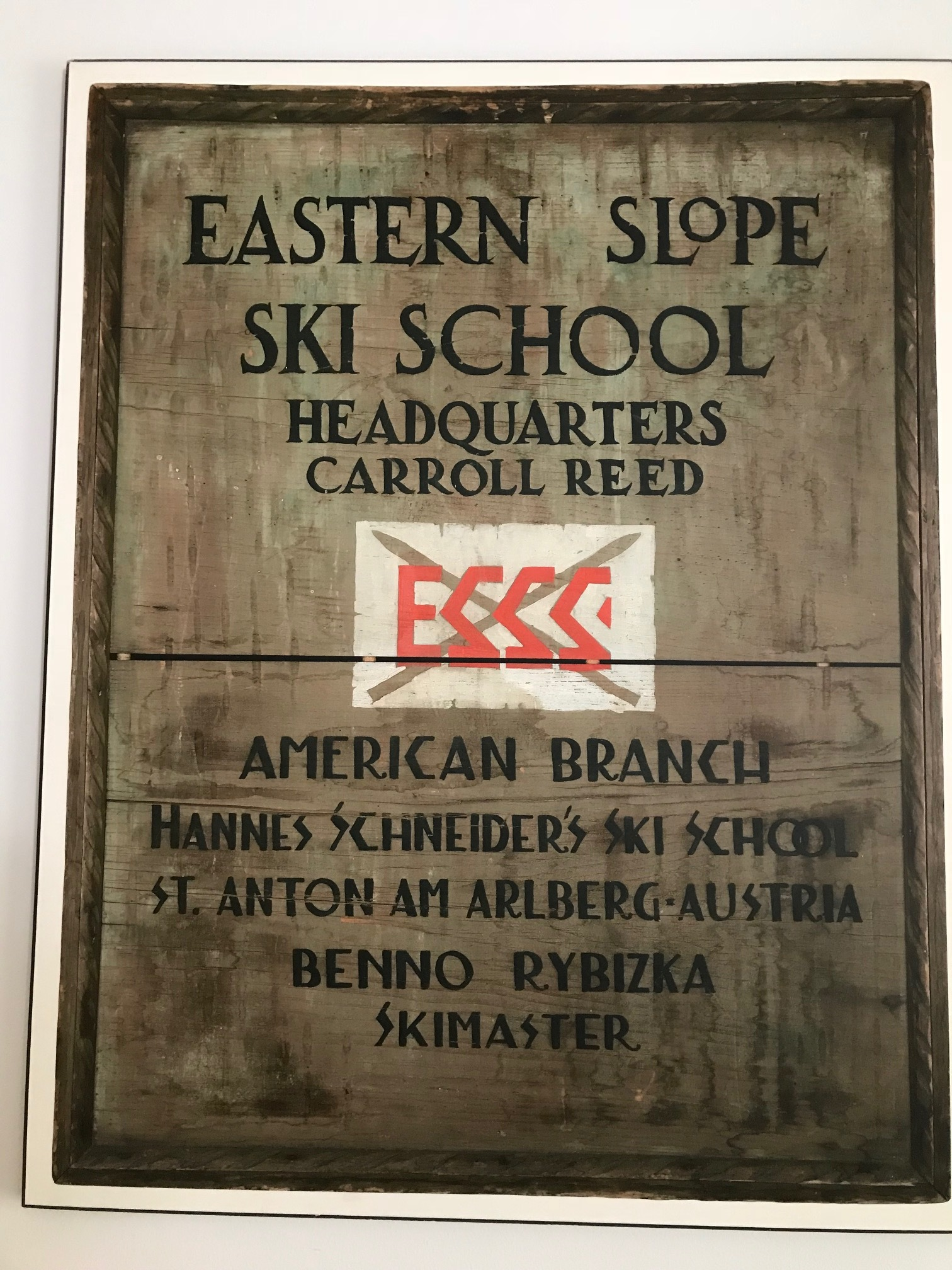 Old sign at Ski Museum