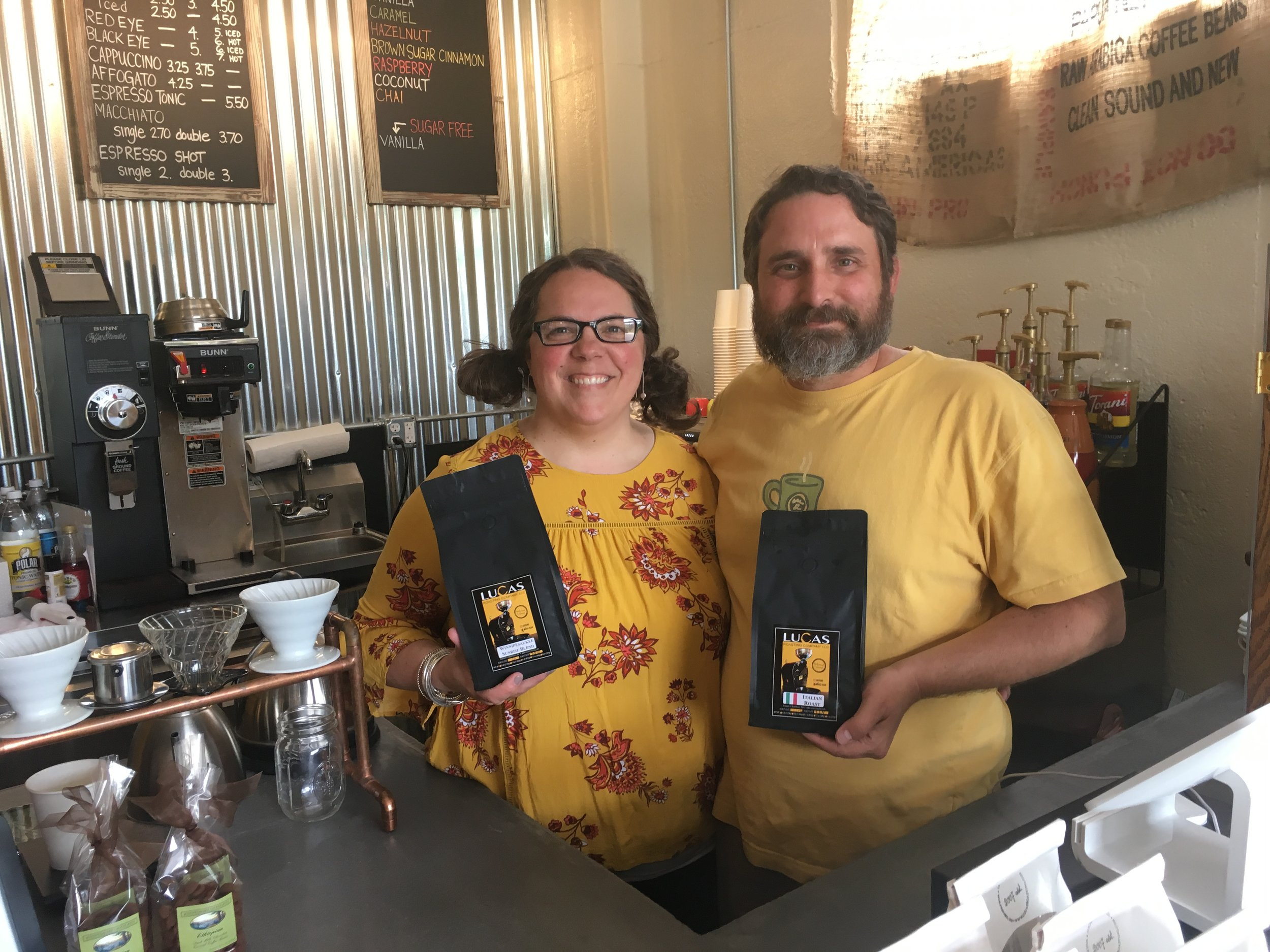 Jennica and Troy Lucas are co-proprietors of Lucas Roasting Company