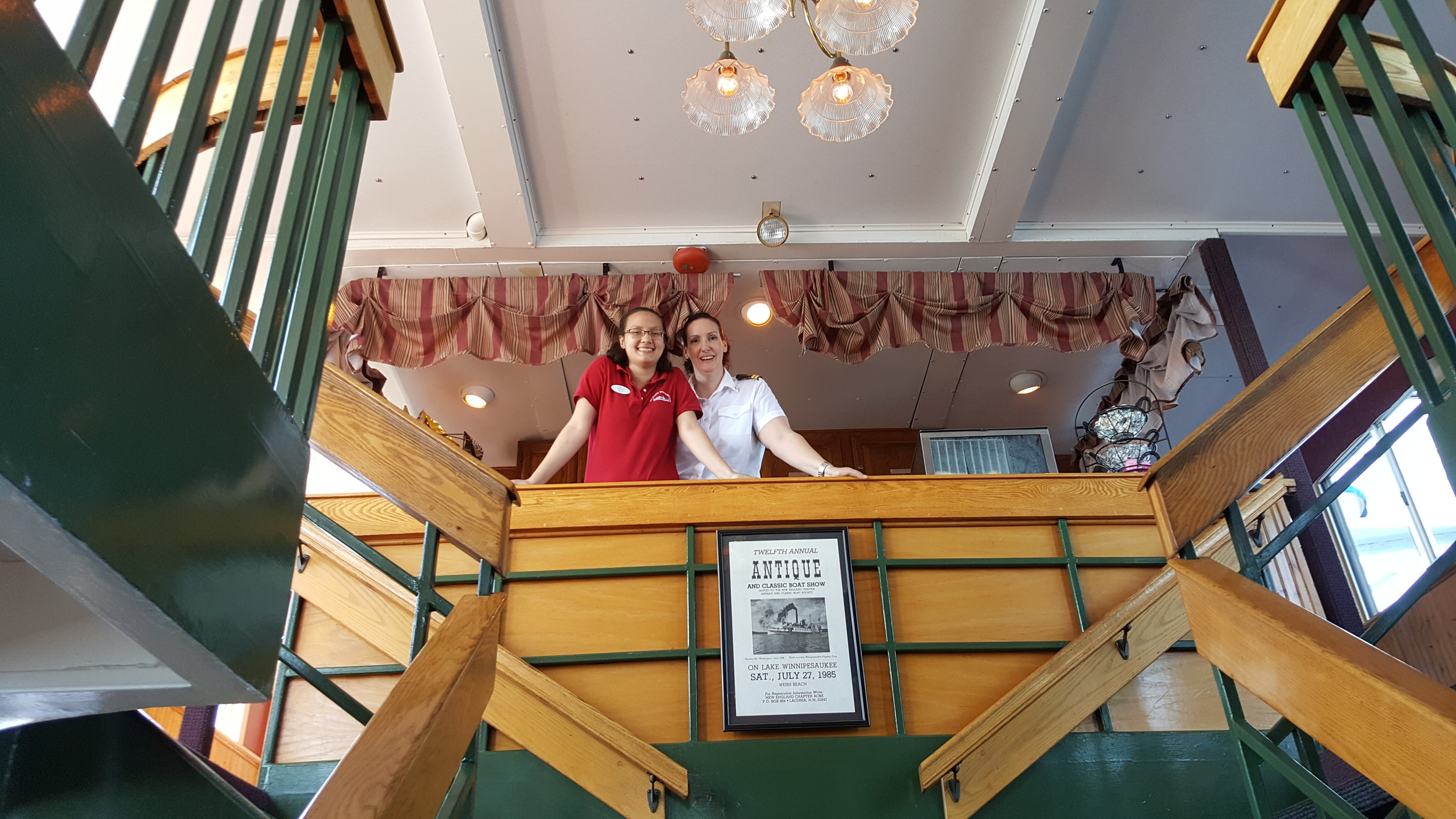 The friendly staff of the M/S Mount Washington make passengers feel special and cared for.