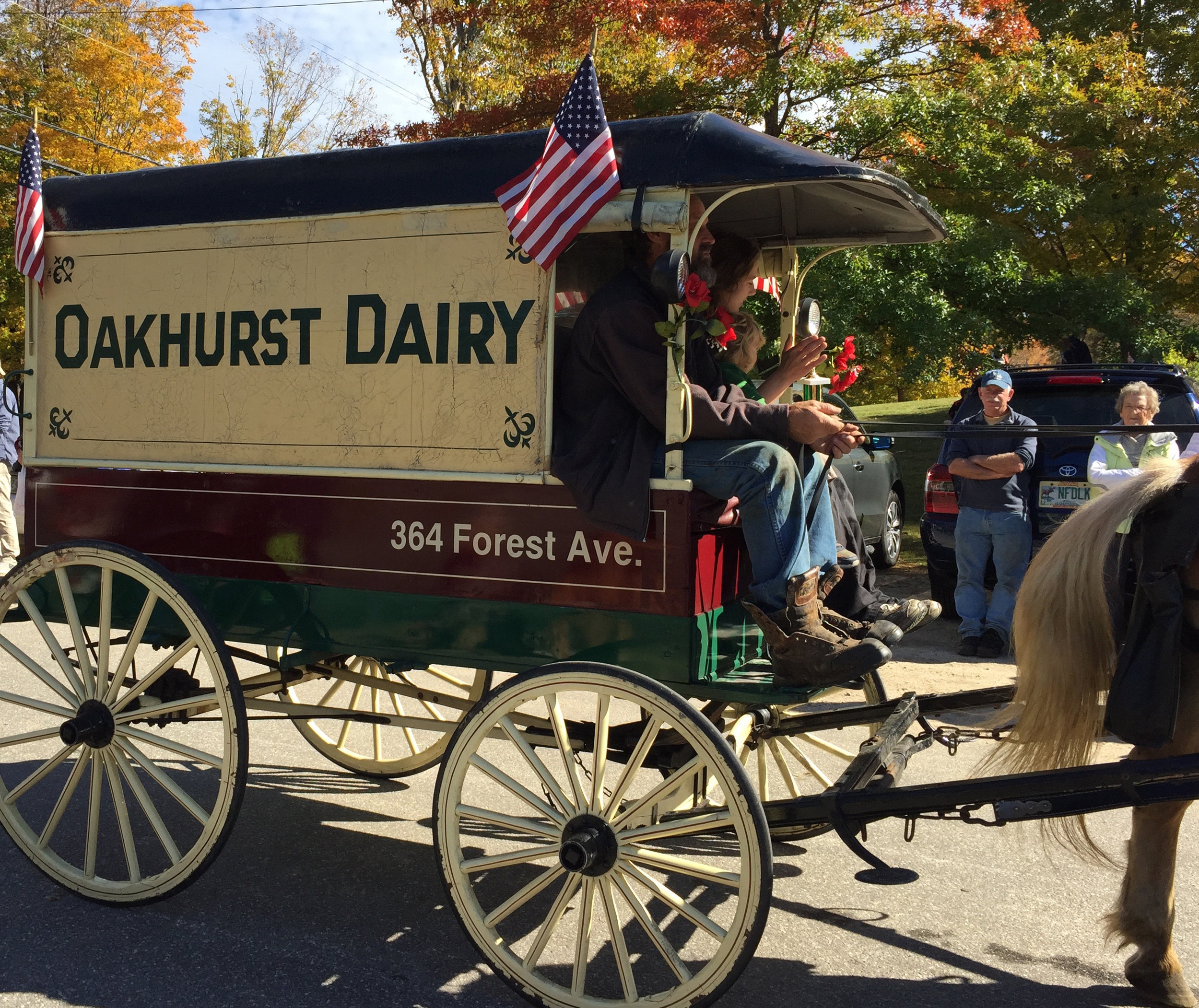 One of the old-time vehicles in the Sandwich Fair parade. (Courtesy photo)