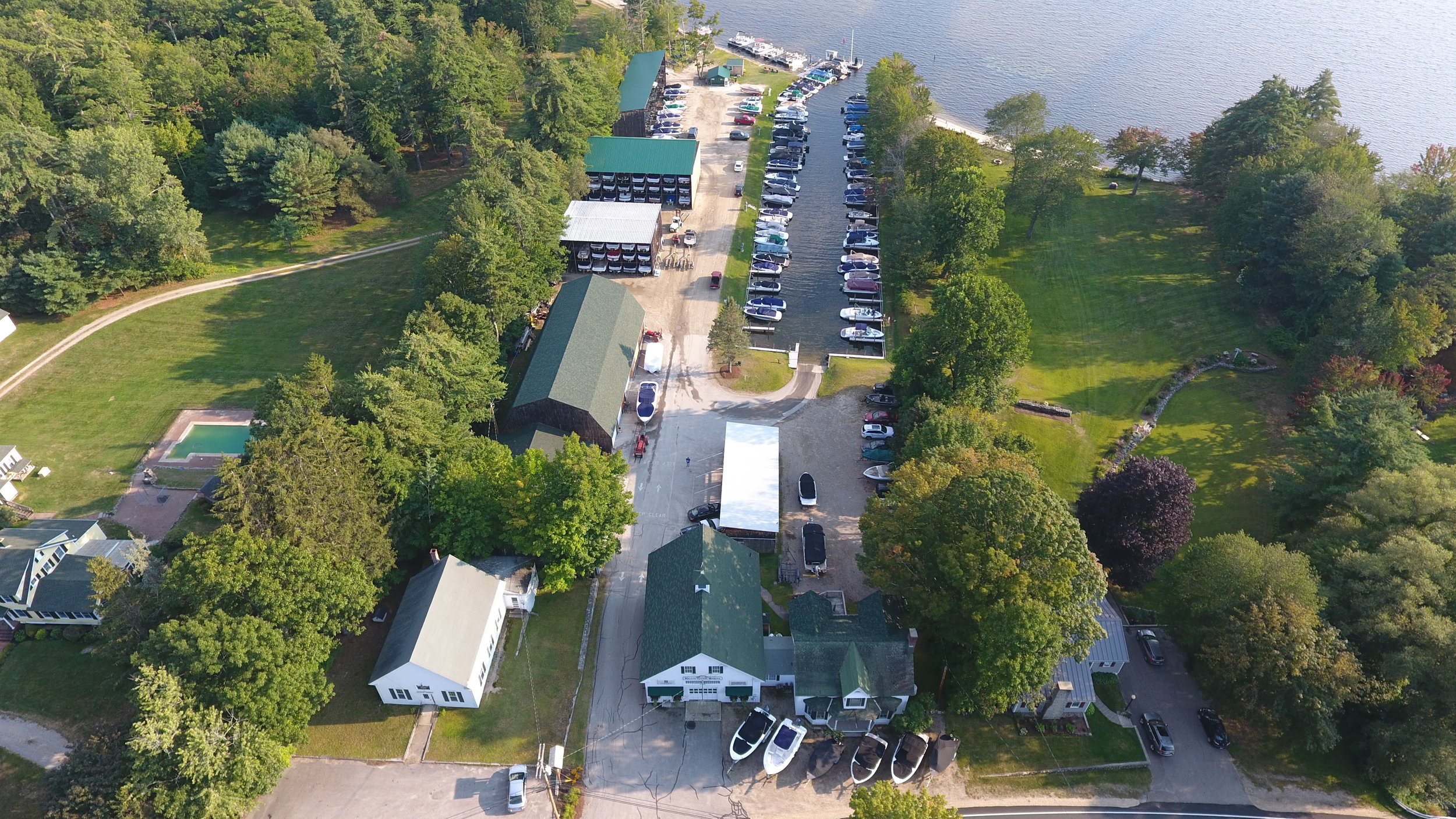 Melvin Village Marina from above