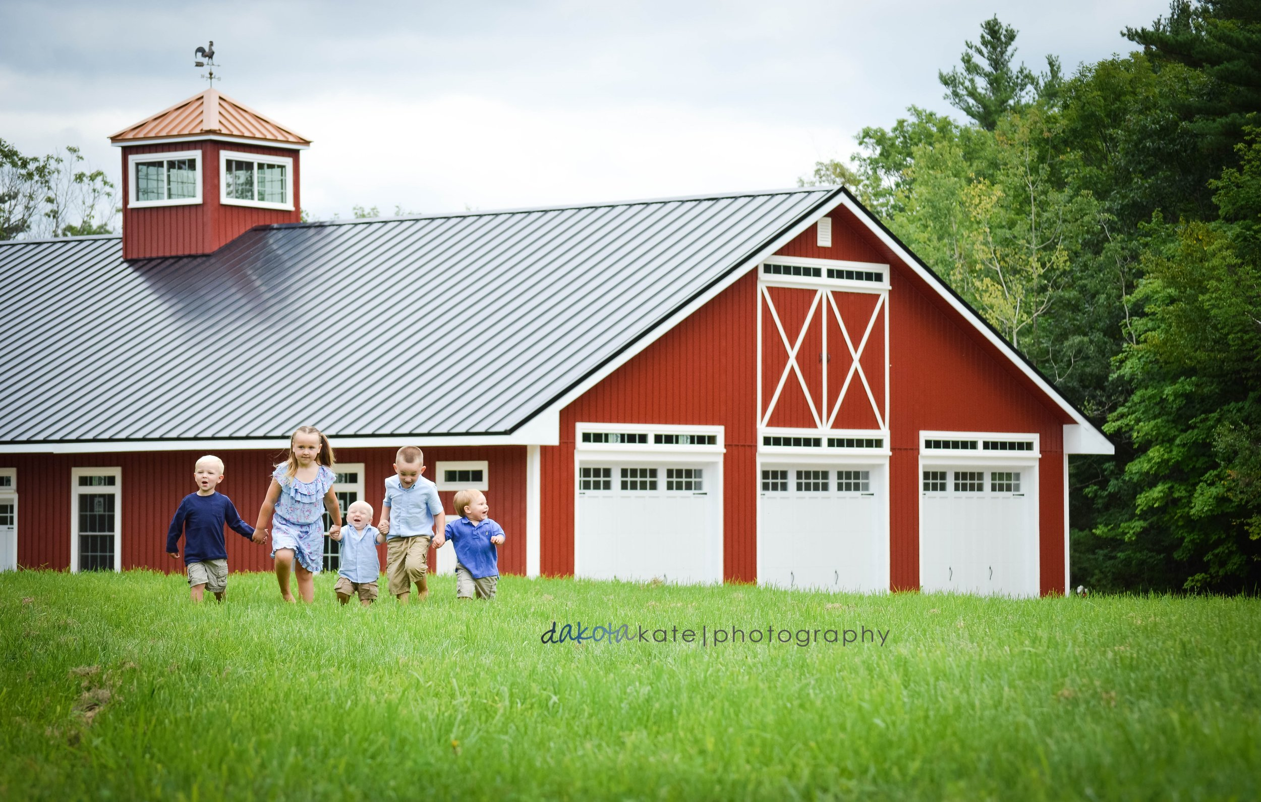 The barn property with the Libby's grandchildren.jpg