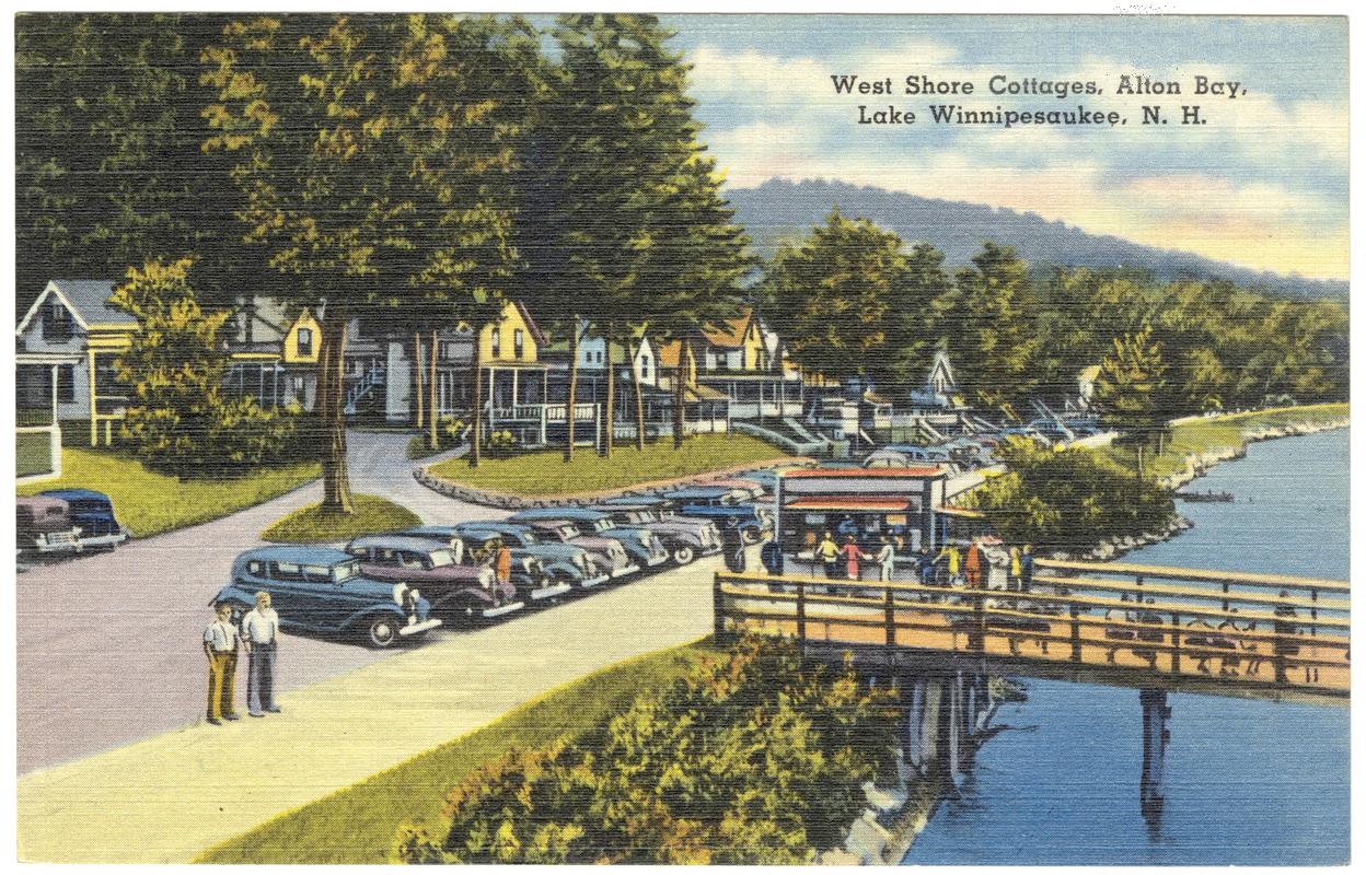Vintage Lake Winnipesaukee Postcard