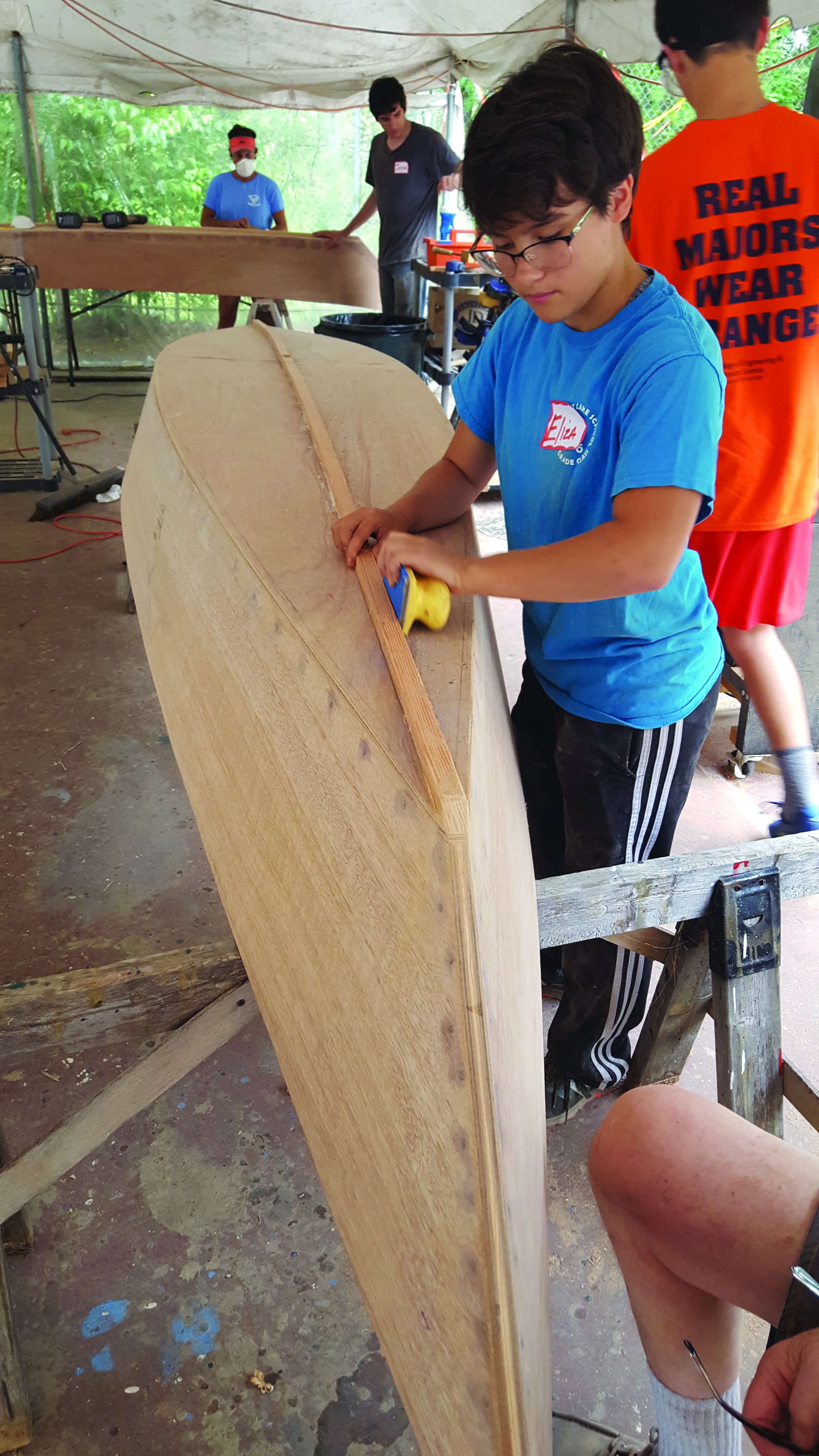 Youth Boat Building workshop at NH Boat Museum