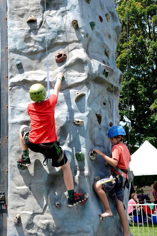 Climbing wall at Nickfest